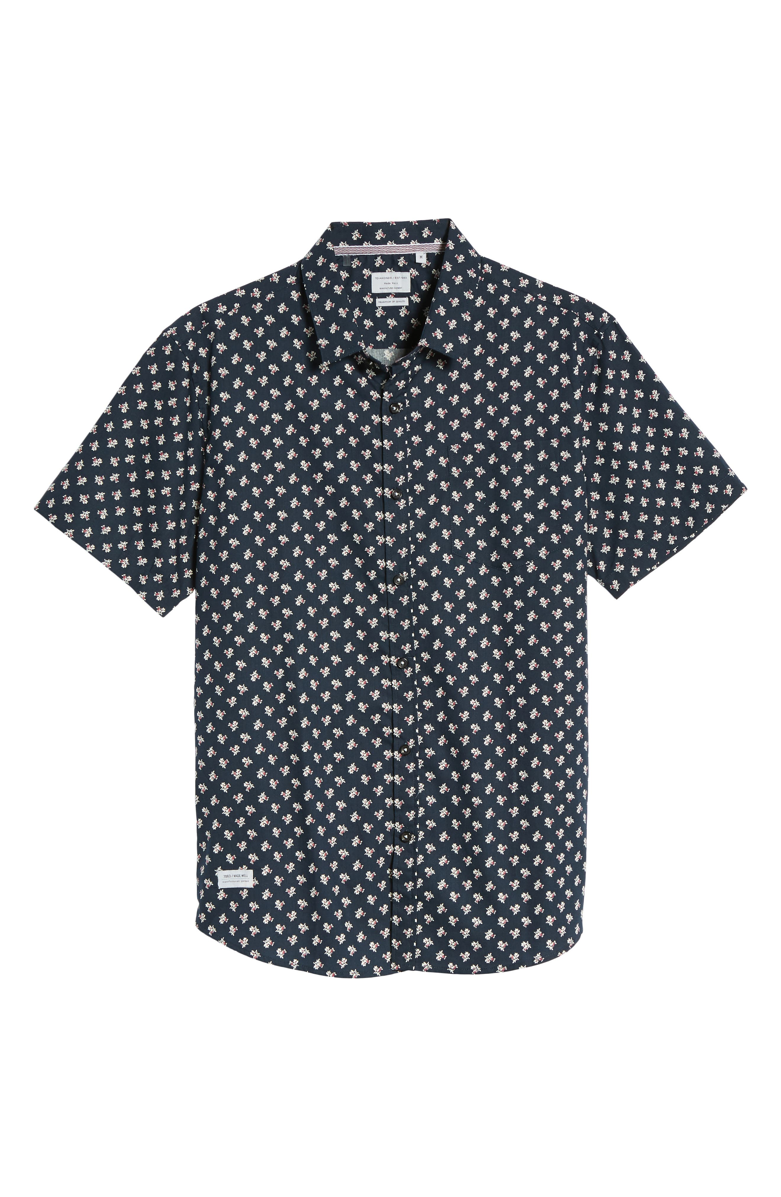 'Crossfire' Floral Print Short Sleeve Woven Shirt,                             Alternate thumbnail 11, color,