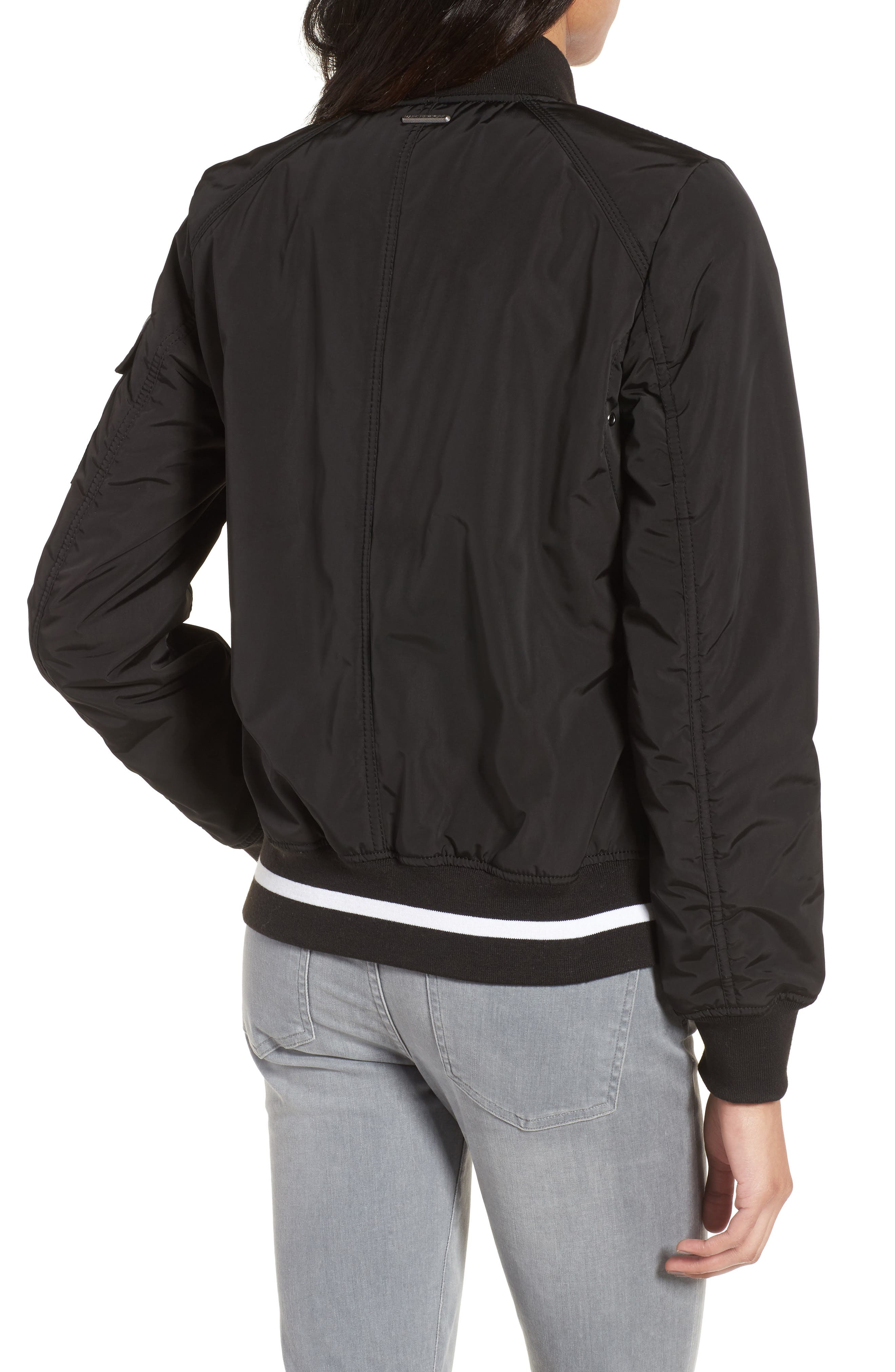 Foster Nylon Twill Bomber Jacket,                             Alternate thumbnail 6, color,