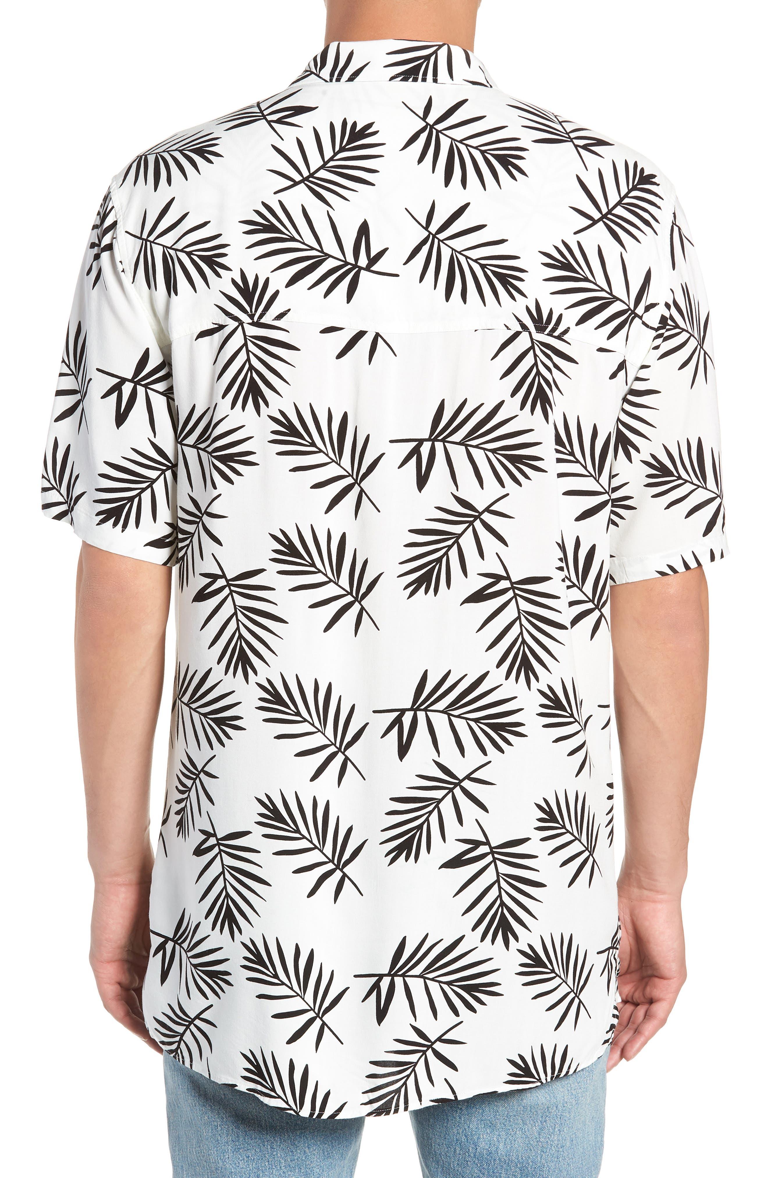 Paradise Short Sleeve Shirt,                             Alternate thumbnail 3, color,                             NAVY