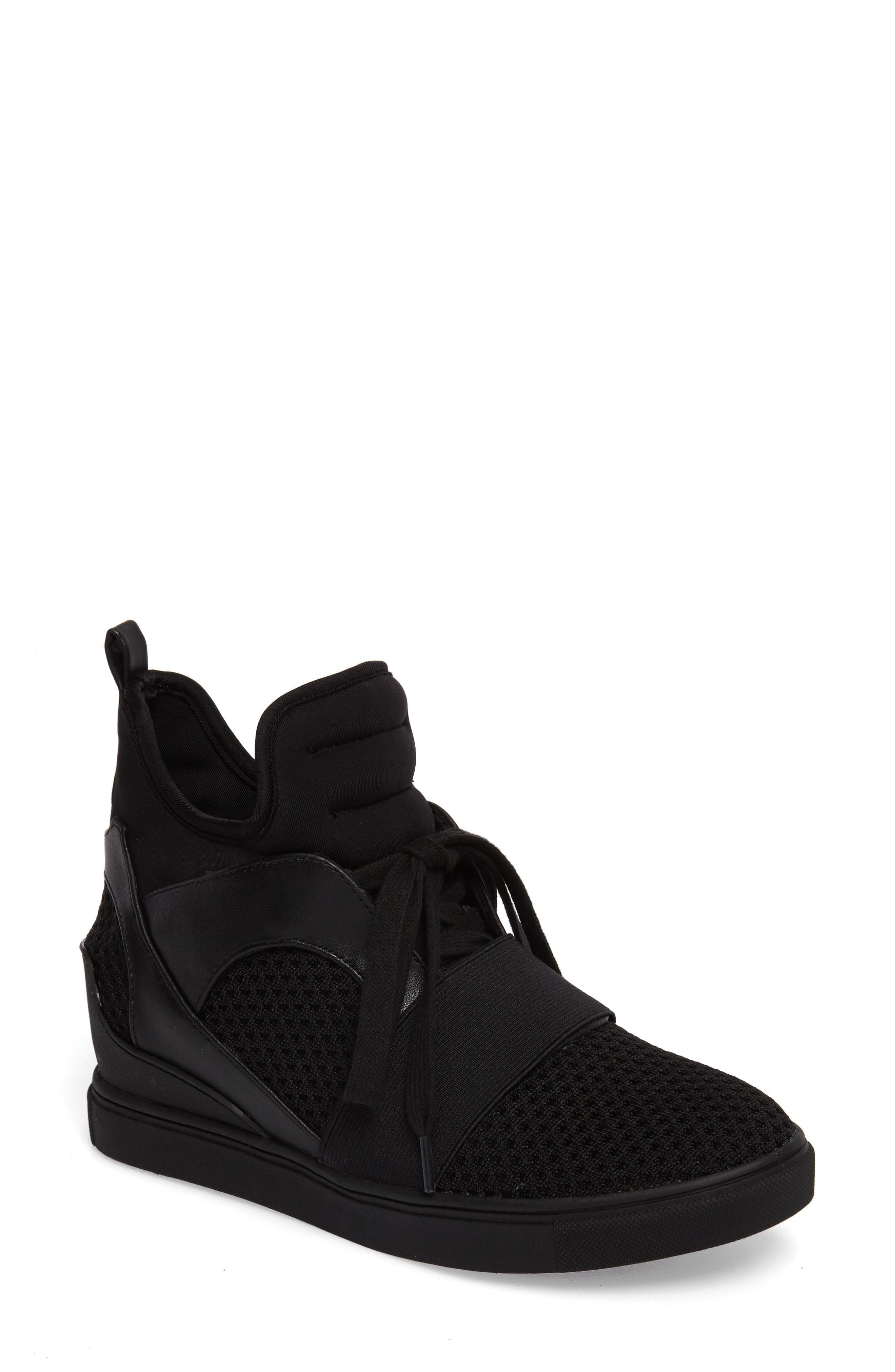 Lexie Wedge Sneaker,                         Main,                         color, 001