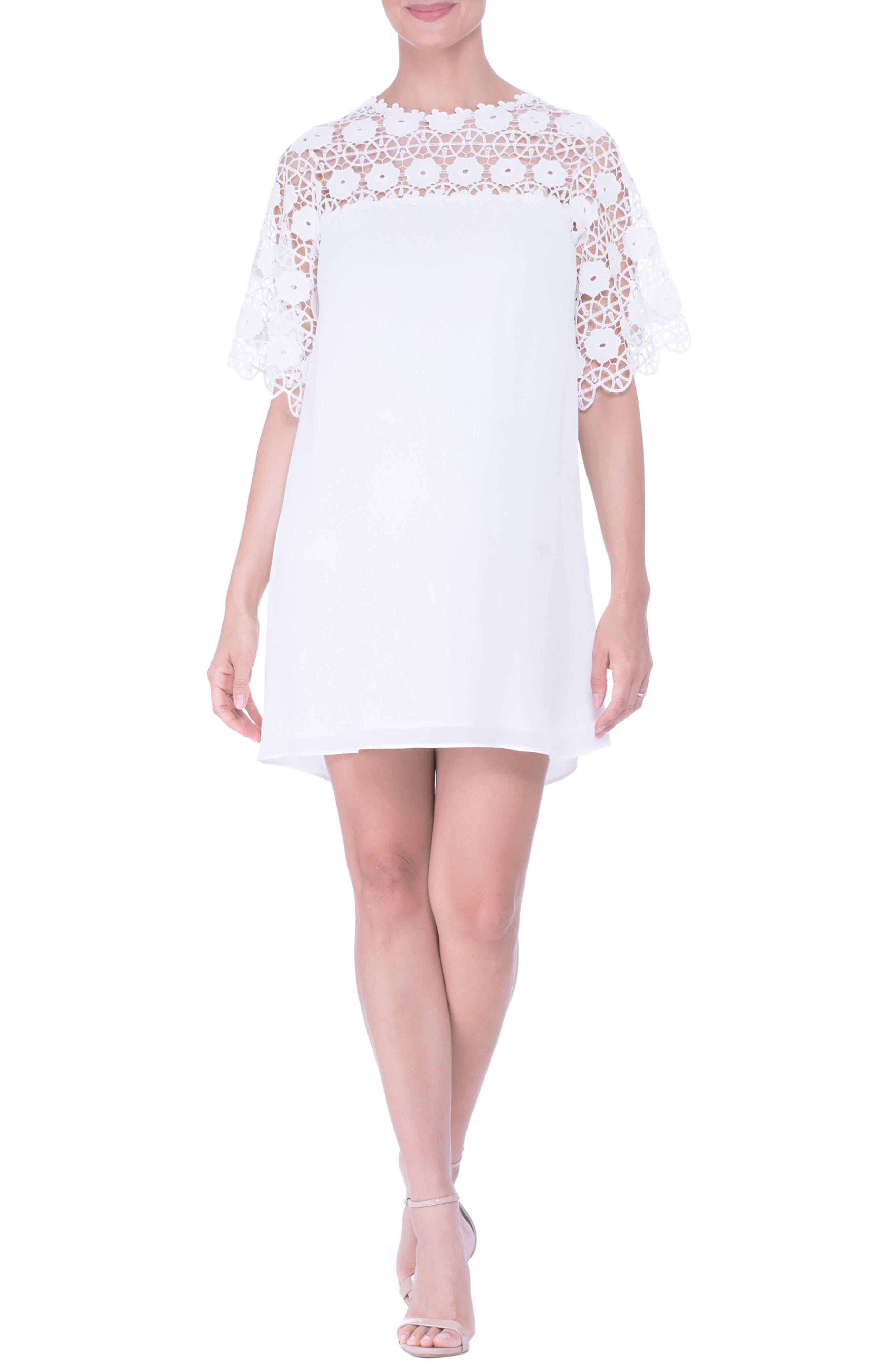 Lace Yoke Maternity Dress,                         Main,                         color,