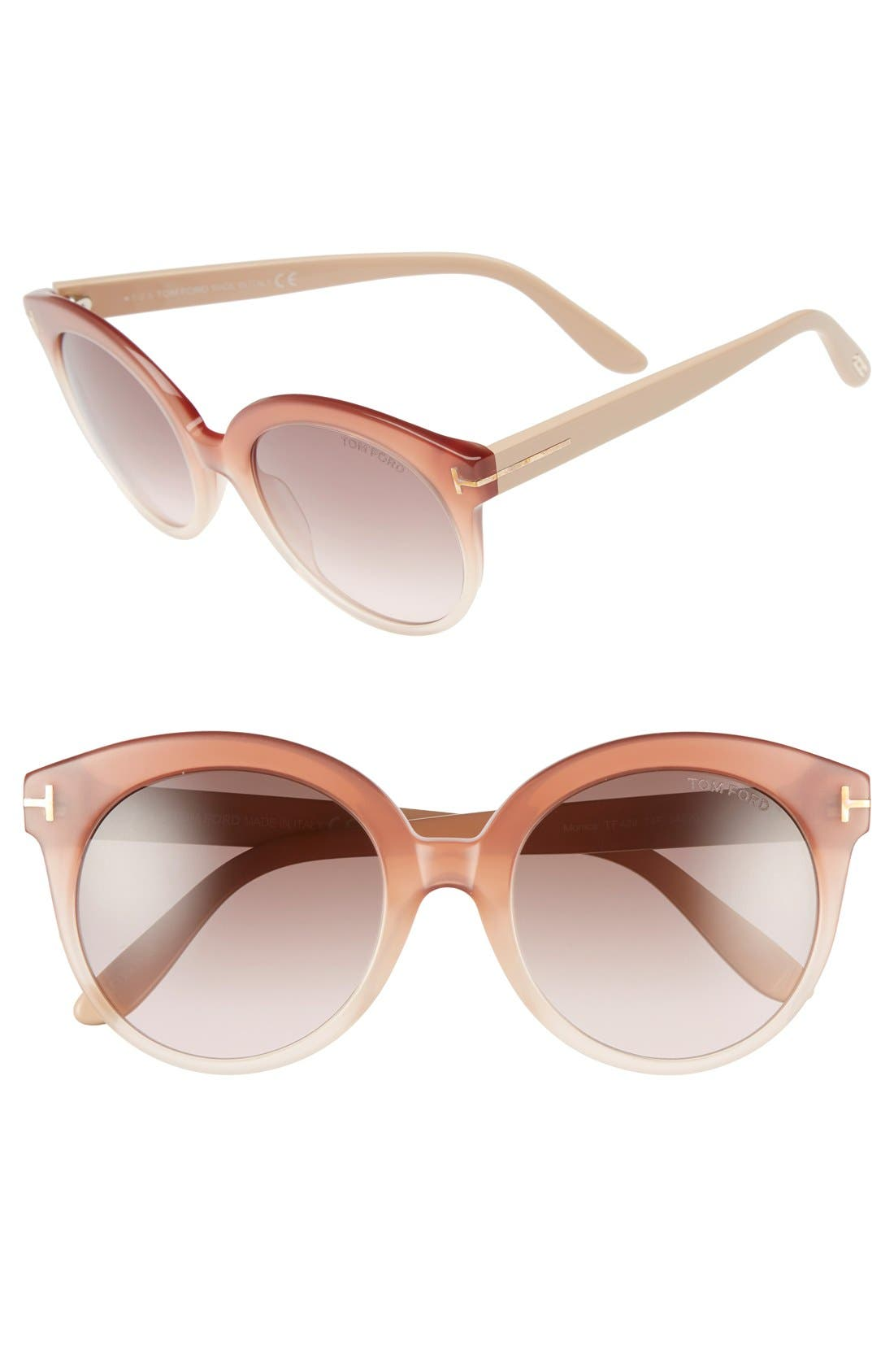 'Monica' 54mm Retro Sunglasses,                             Main thumbnail 4, color,