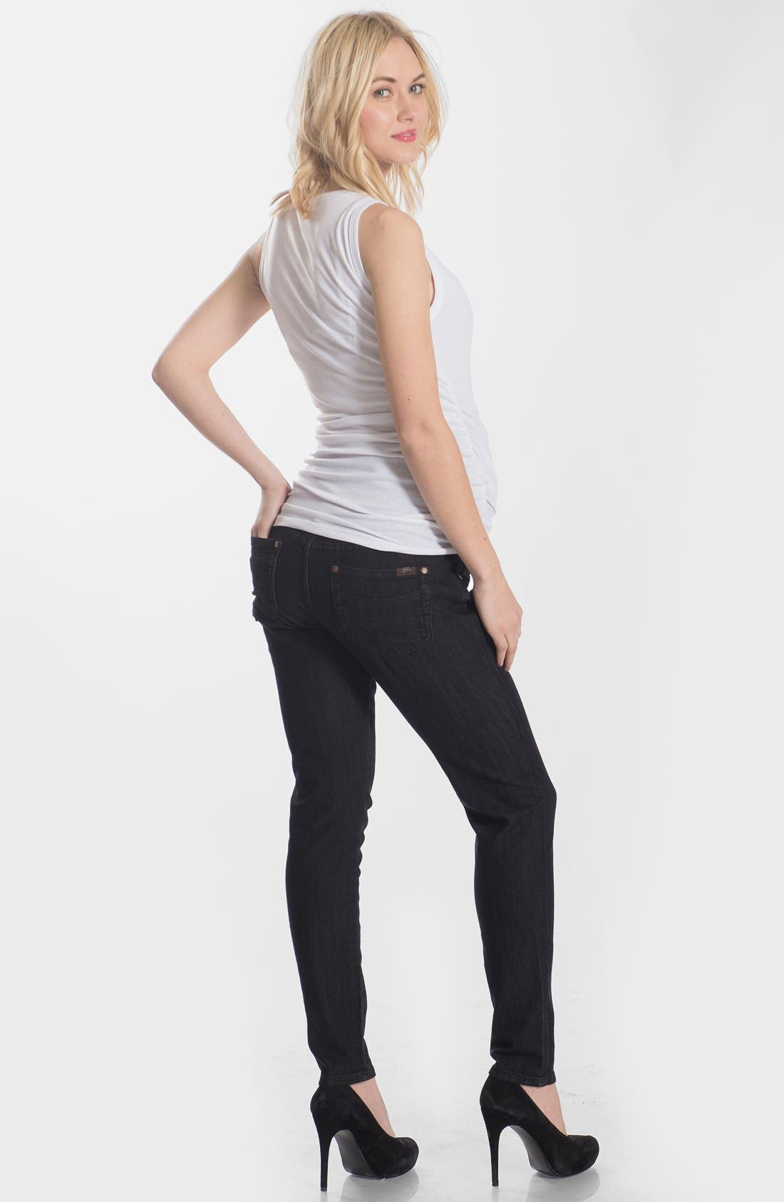 Skinny Maternity Jeans,                             Alternate thumbnail 21, color,