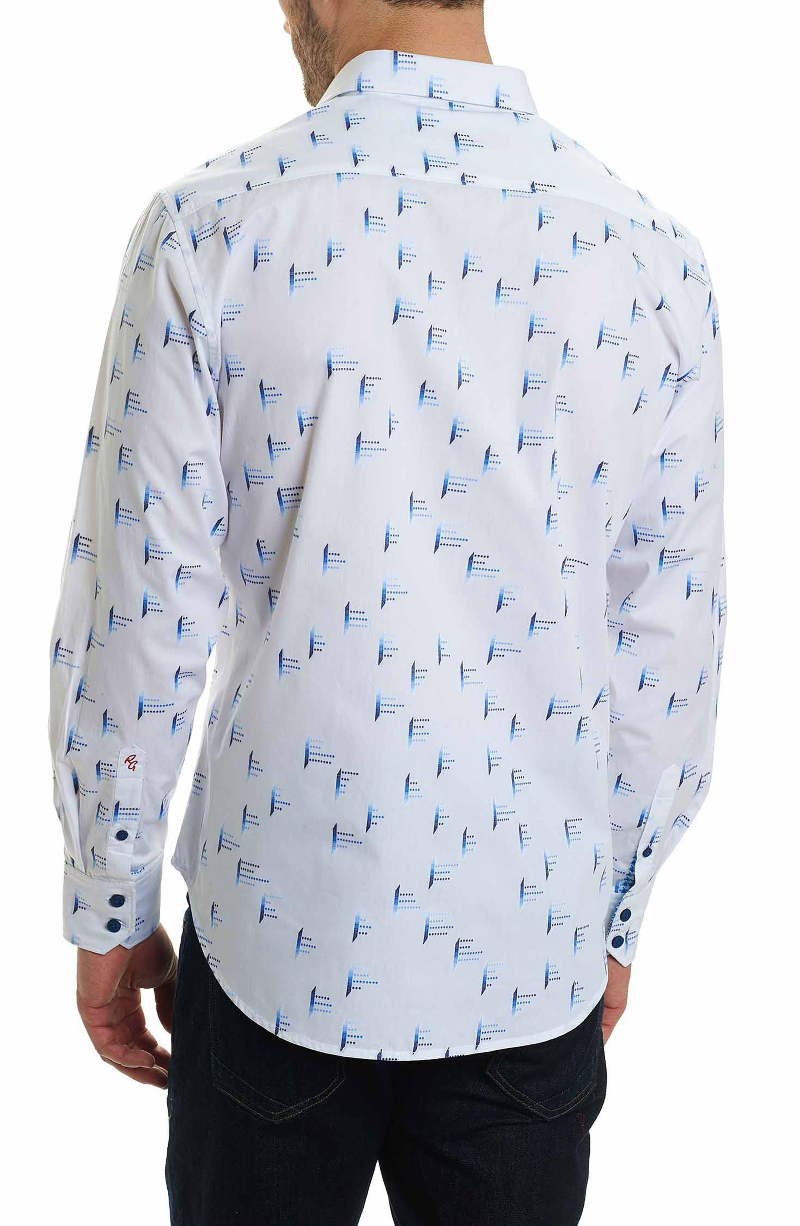 Reid Classic Fit Print Sport Shirt,                             Alternate thumbnail 2, color,