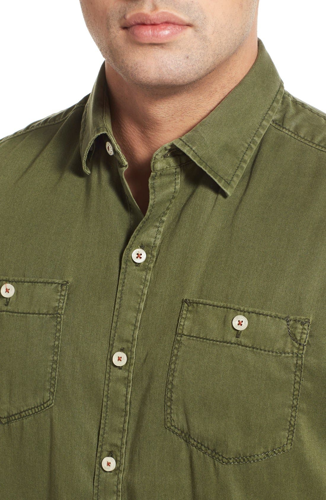 'New Twilly' Island Modern Fit Short Sleeve Twill Shirt,                             Alternate thumbnail 44, color,