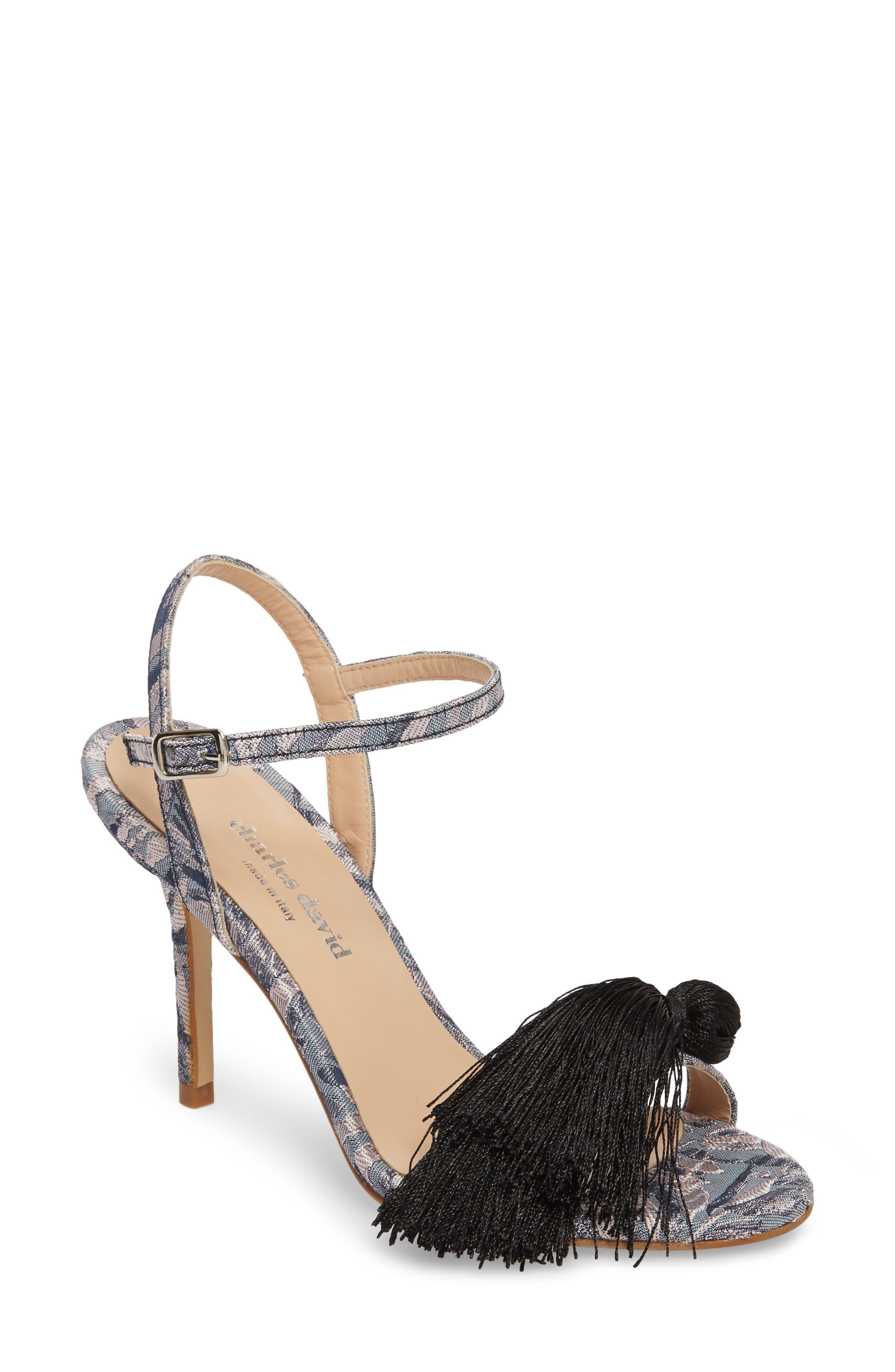 Sassy Tassel Sandal,                         Main,                         color, GREY MULTI