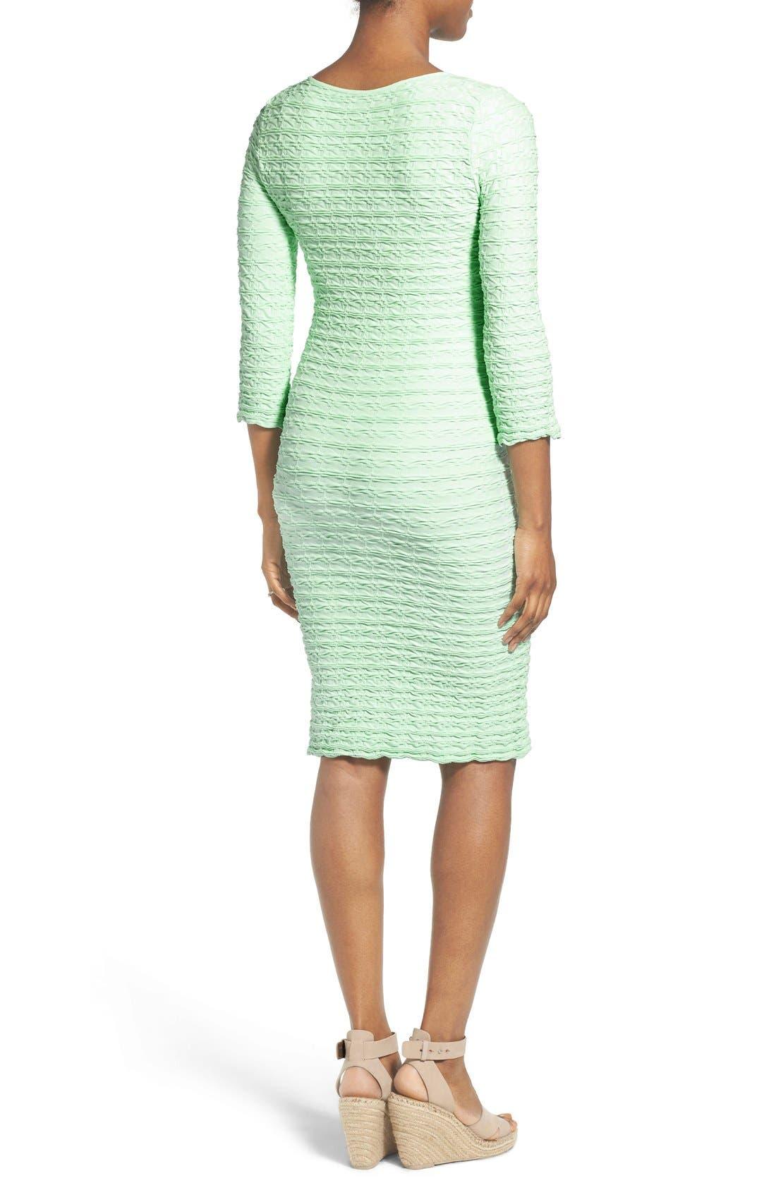 'Crinkle' Maternity Midi Dress,                             Alternate thumbnail 5, color,