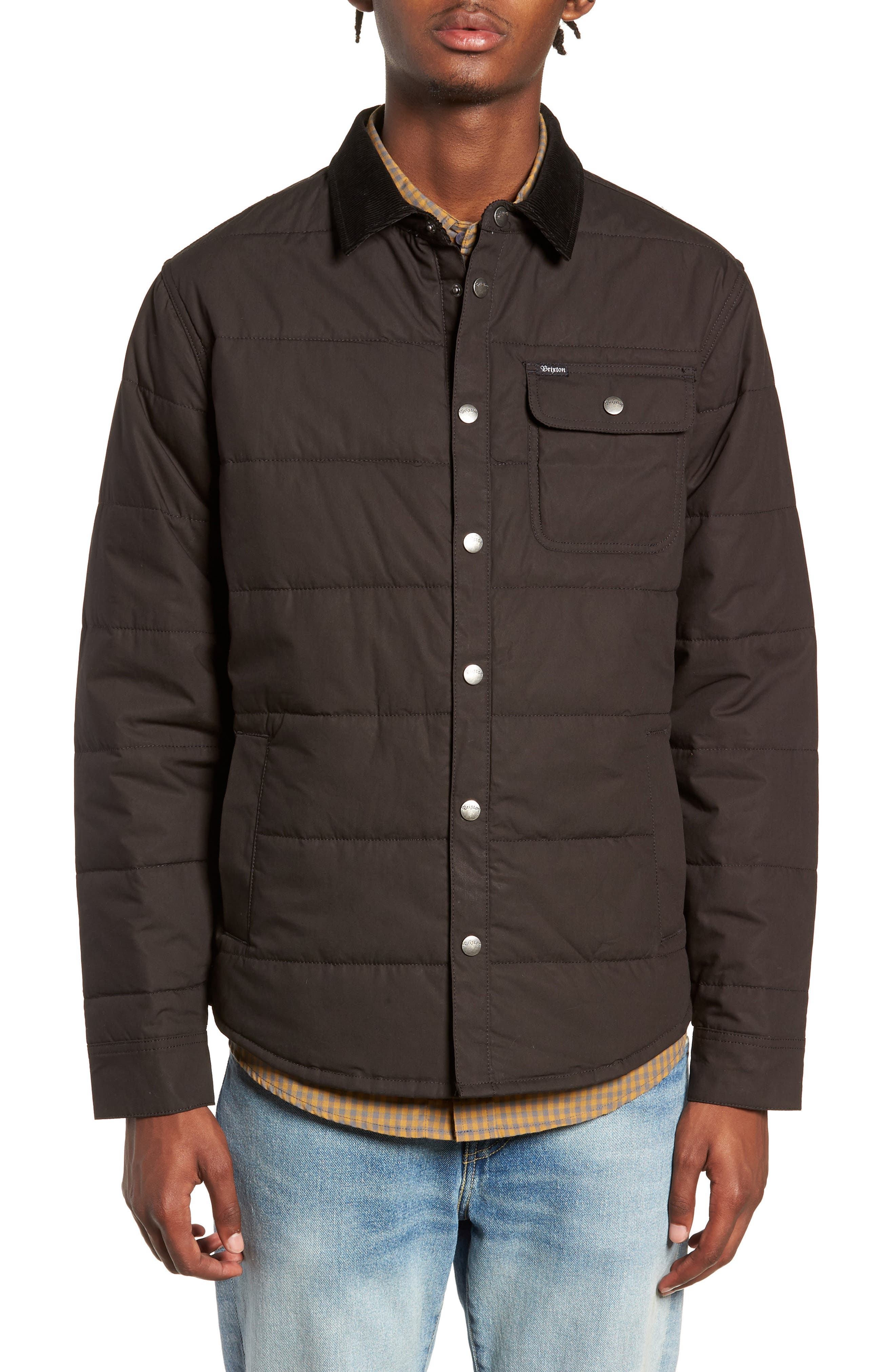 'Cass' Quilted Jacket,                             Alternate thumbnail 4, color,                             008