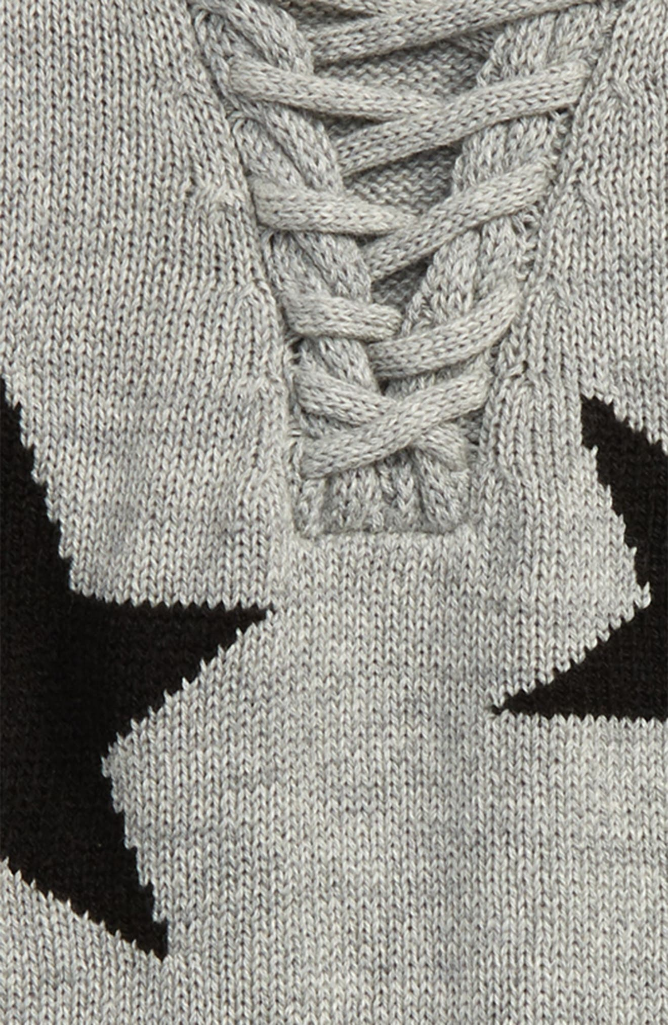 Star Lace-Up Sweater,                             Alternate thumbnail 2, color,                             039