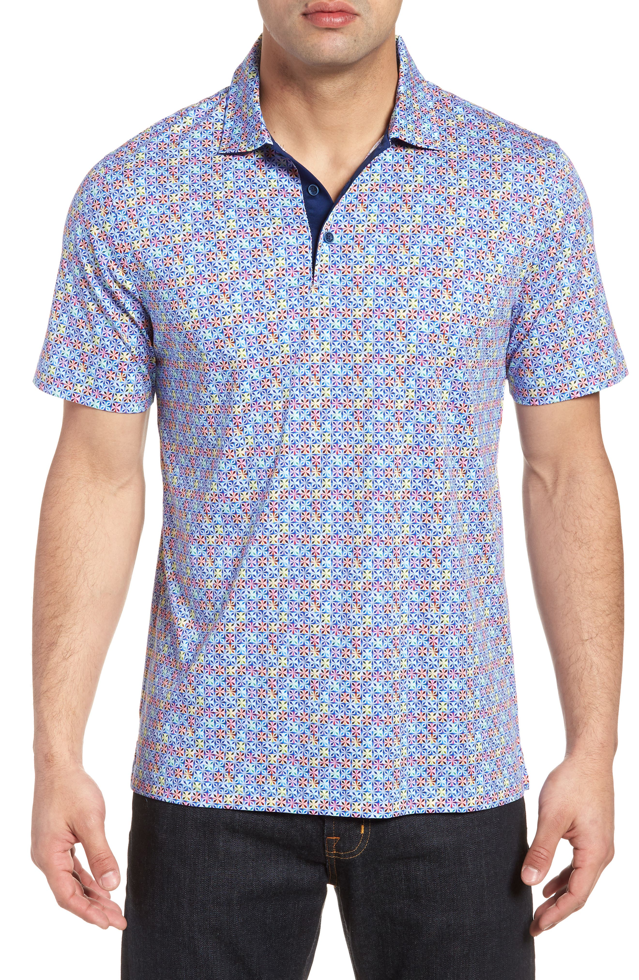 Regular Fit Knit Polo,                             Main thumbnail 1, color,                             CANDY