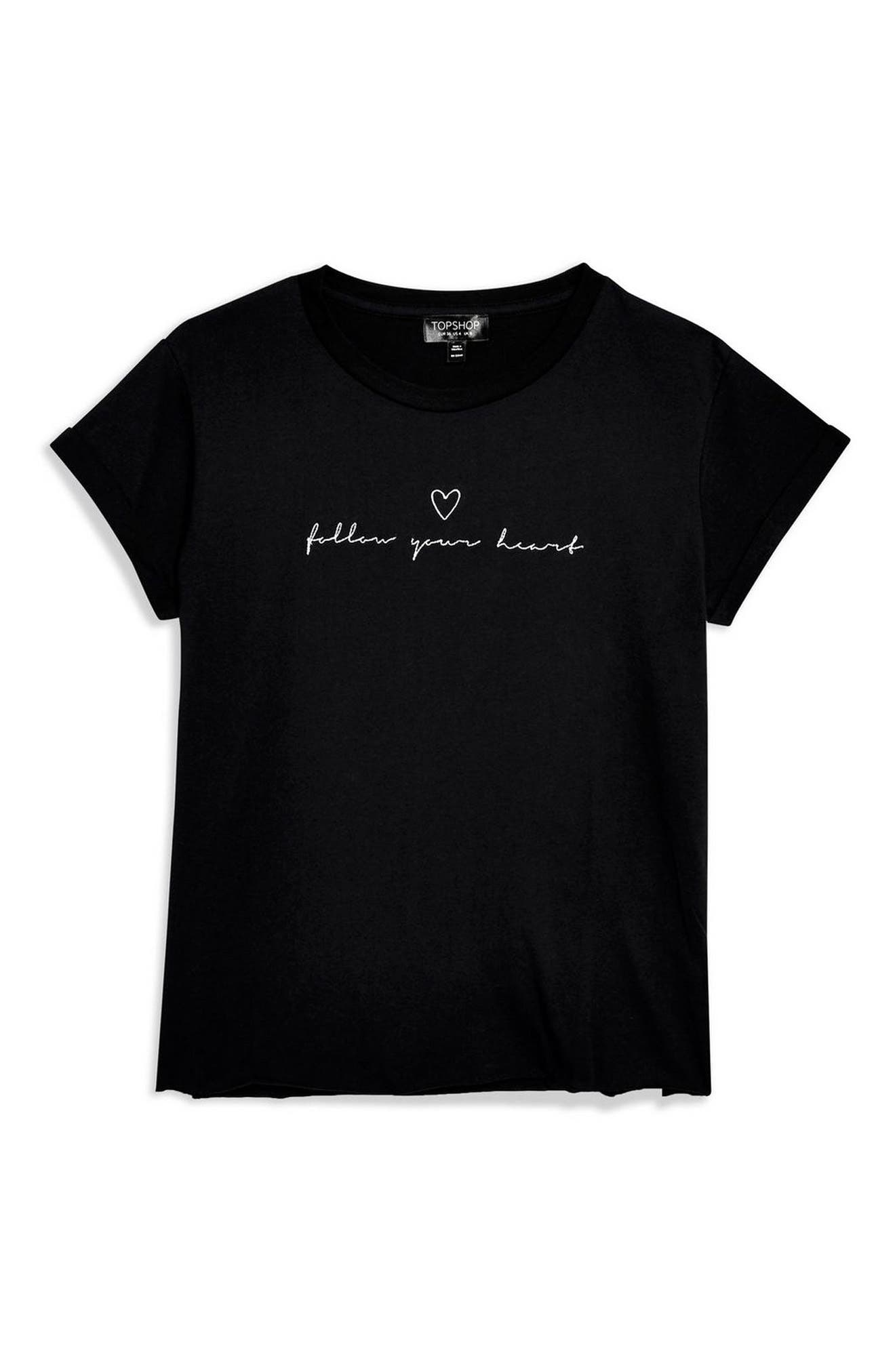 Follow Your Heart Tee,                             Alternate thumbnail 4, color,                             001