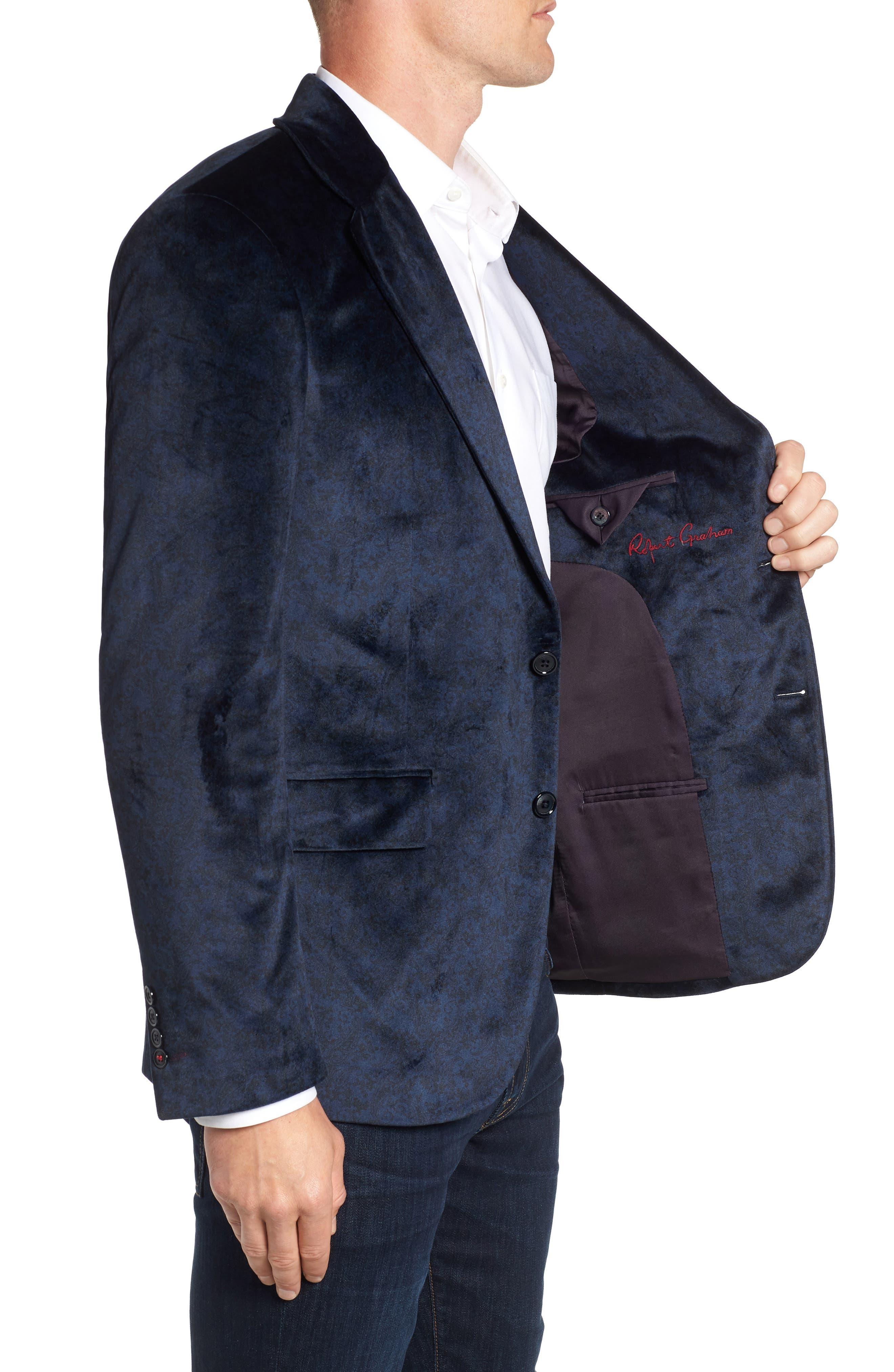 Barton Tailored Fit Blazer,                             Alternate thumbnail 3, color,                             NAVY