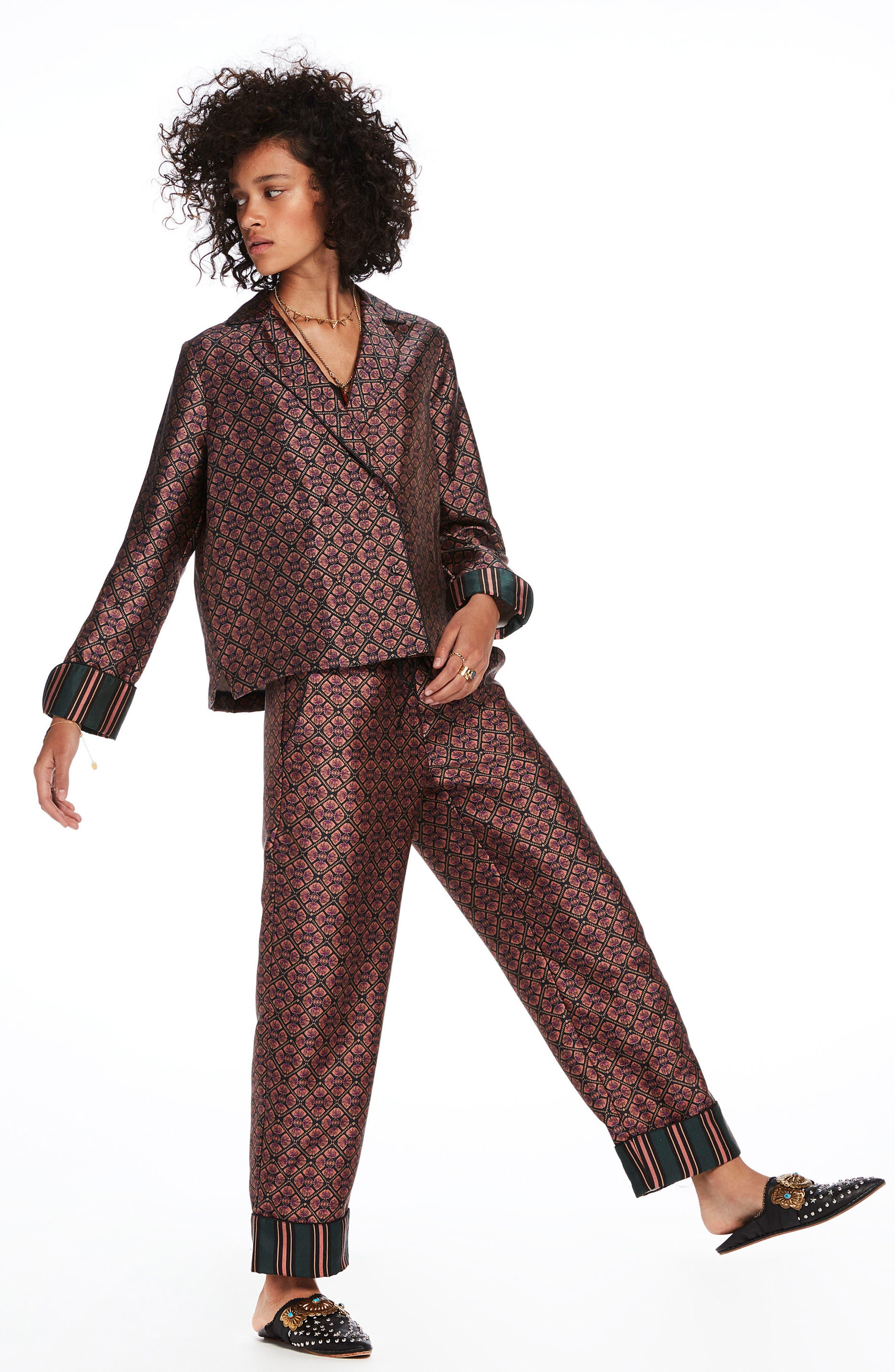 Print Pajama Pants,                             Alternate thumbnail 3, color,                             650