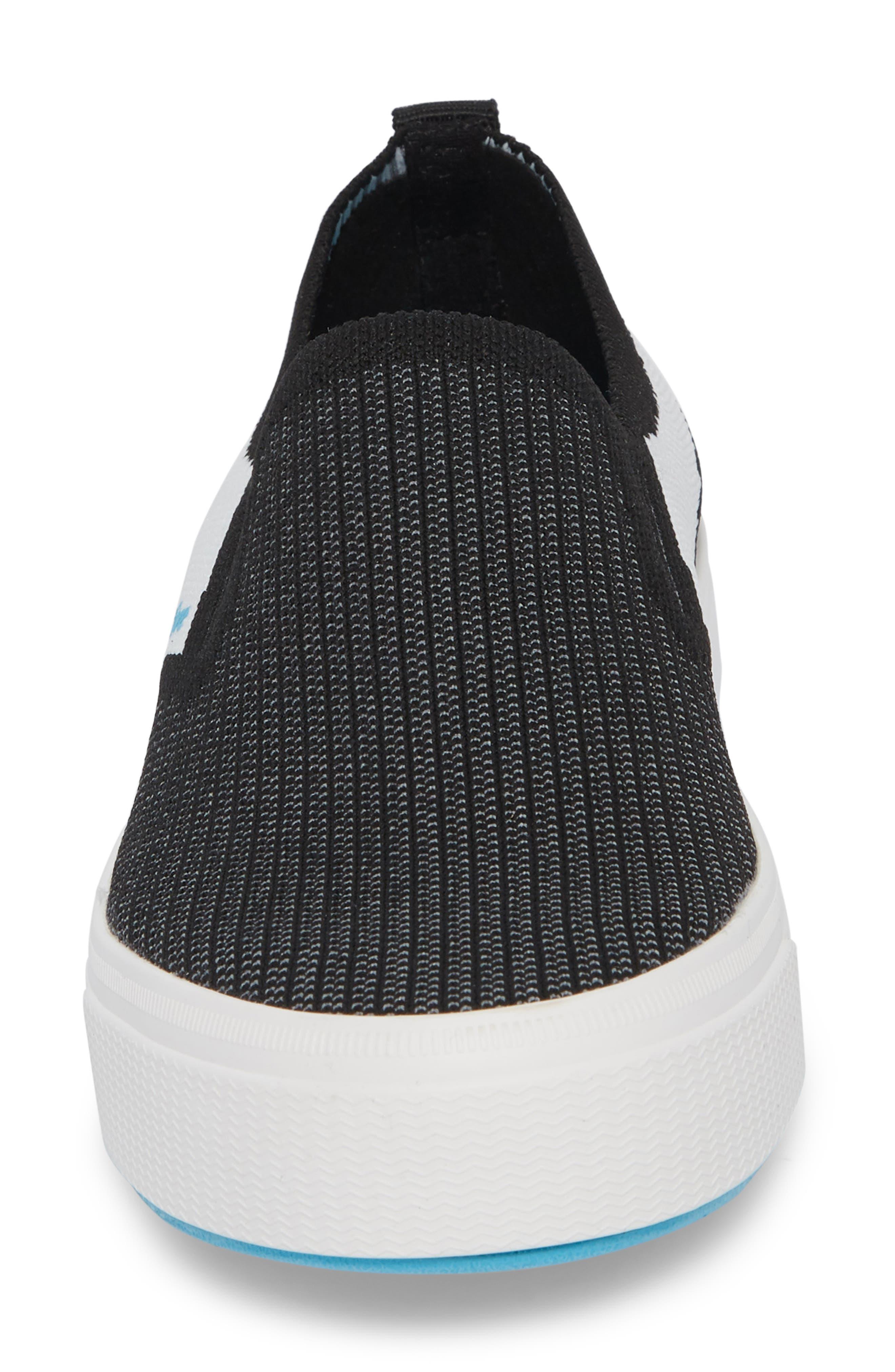 Miles Liteknit Slip-On Sneaker,                             Alternate thumbnail 4, color,                             JIFFY BLACK/ SHELL WHITE