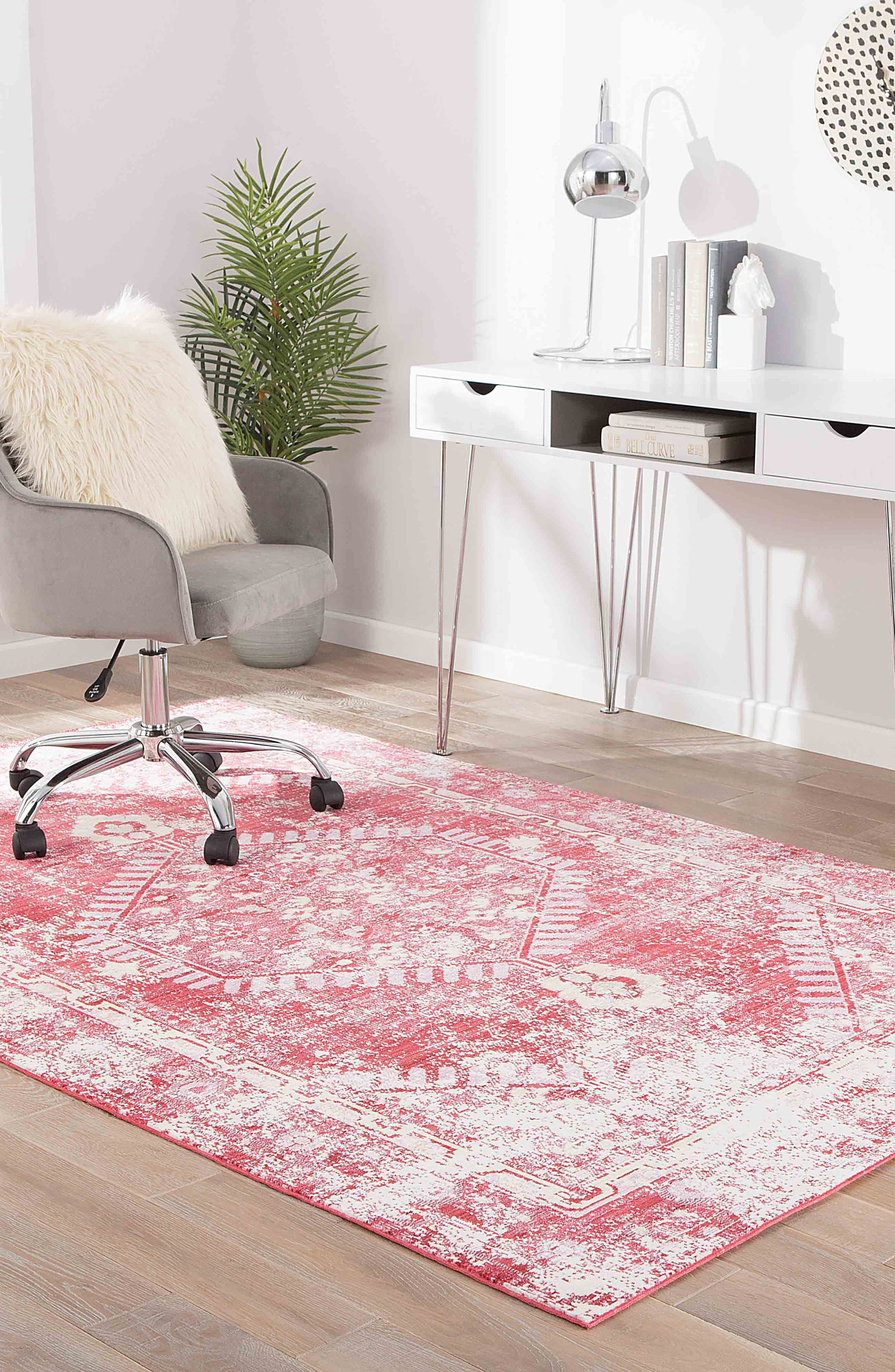Persia Lux Rug,                             Alternate thumbnail 5, color,                             DISTRESSED RED