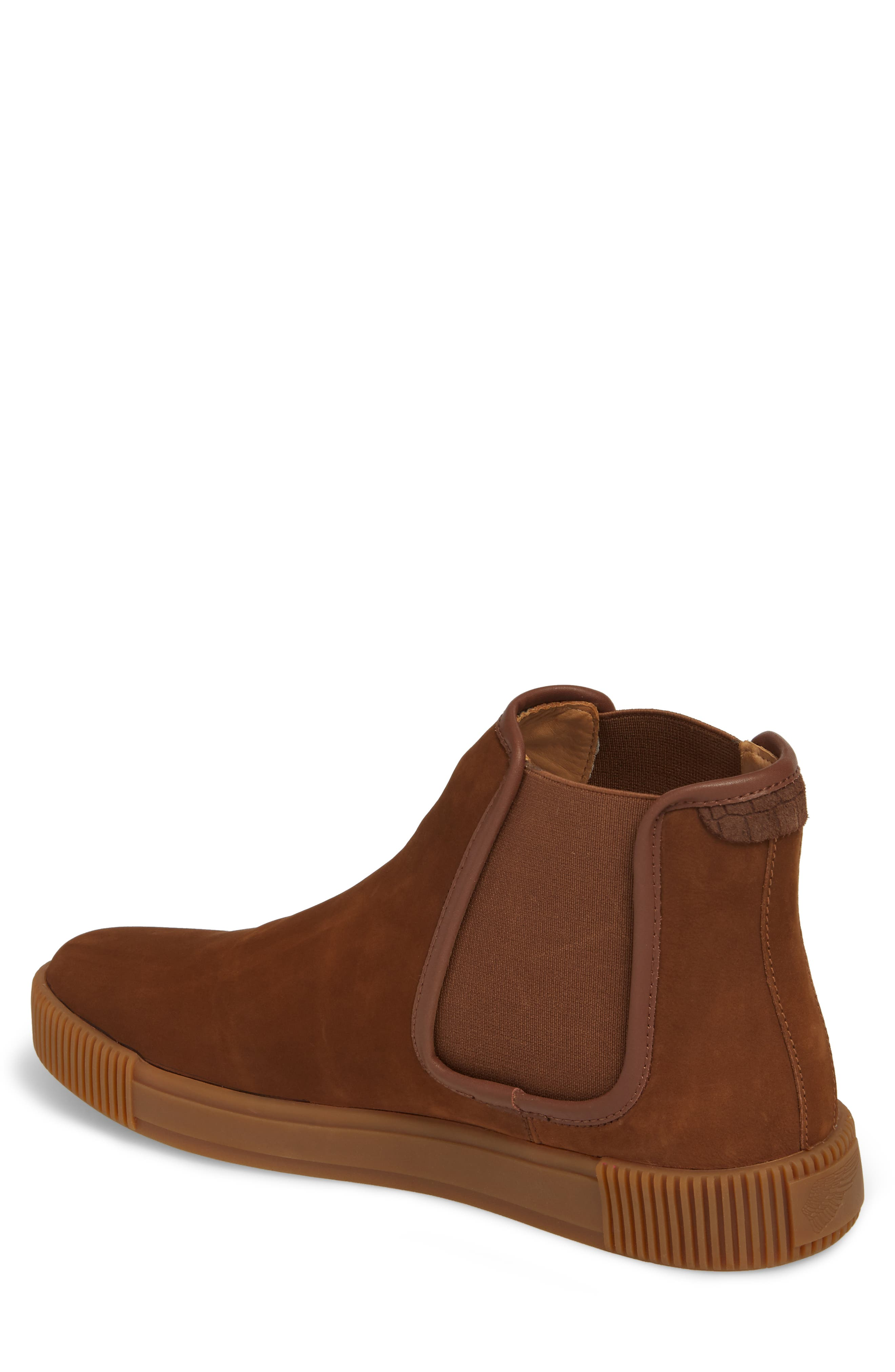 Lyons Chelsea Boot,                             Alternate thumbnail 2, color,                             CHOCOLATE SUEDE