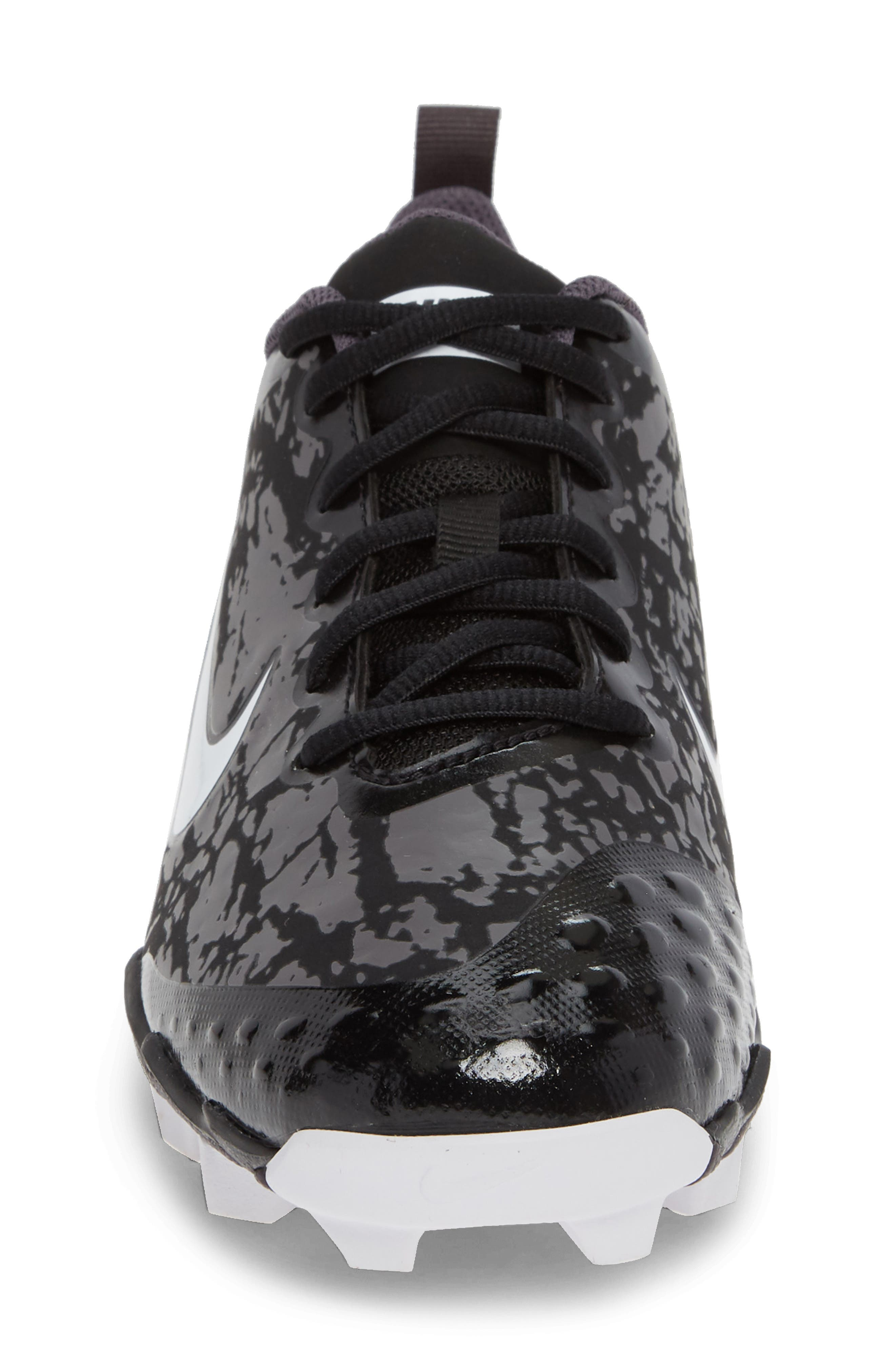 Hyperdiamond 2.5 Keystone Soccer Shoe,                             Alternate thumbnail 4, color,                             BLACK/ WHITE/ THUNDER GREY