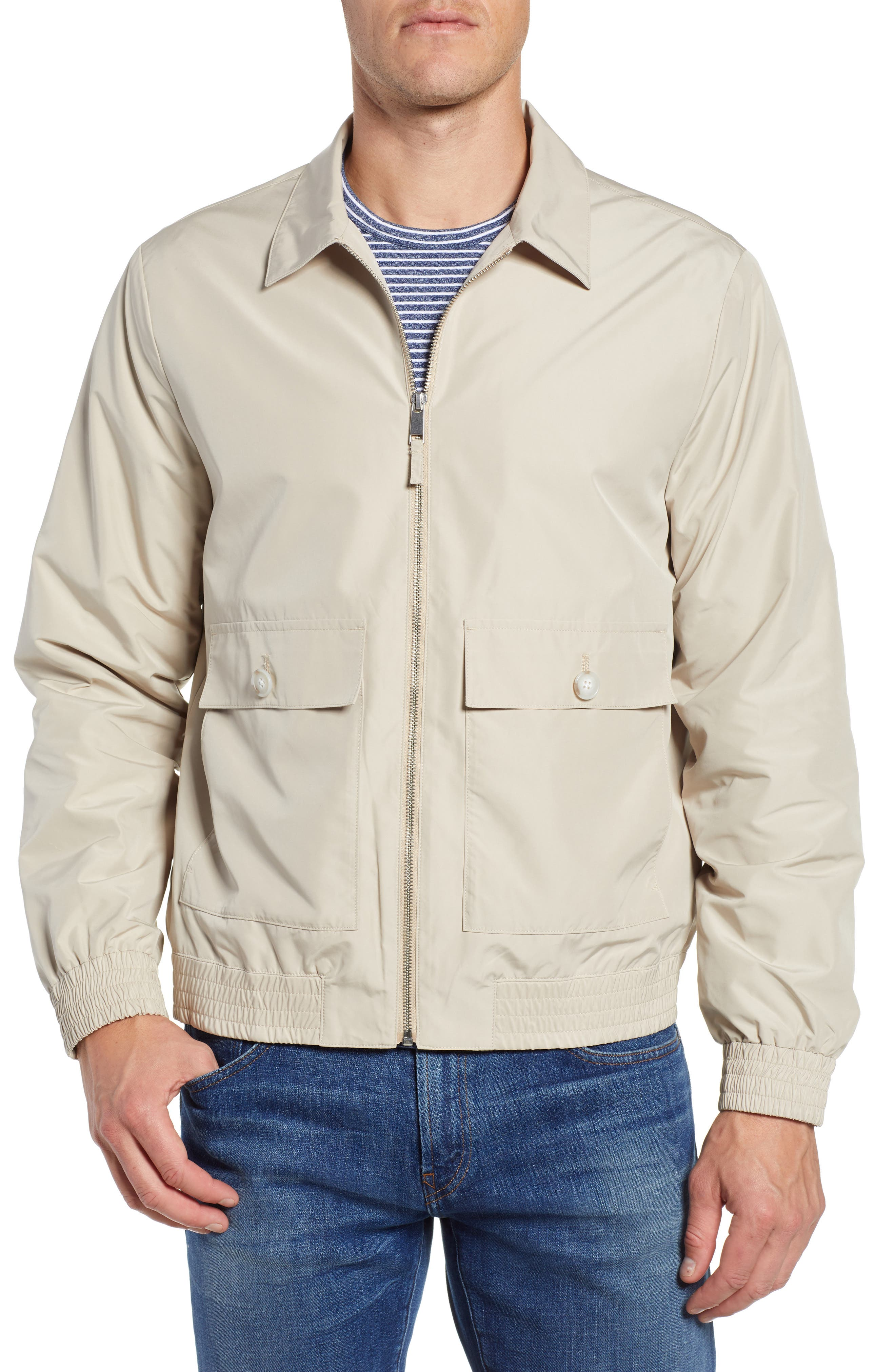 Slim Fit Lightweight Jacket,                             Alternate thumbnail 4, color,                             KHAKI