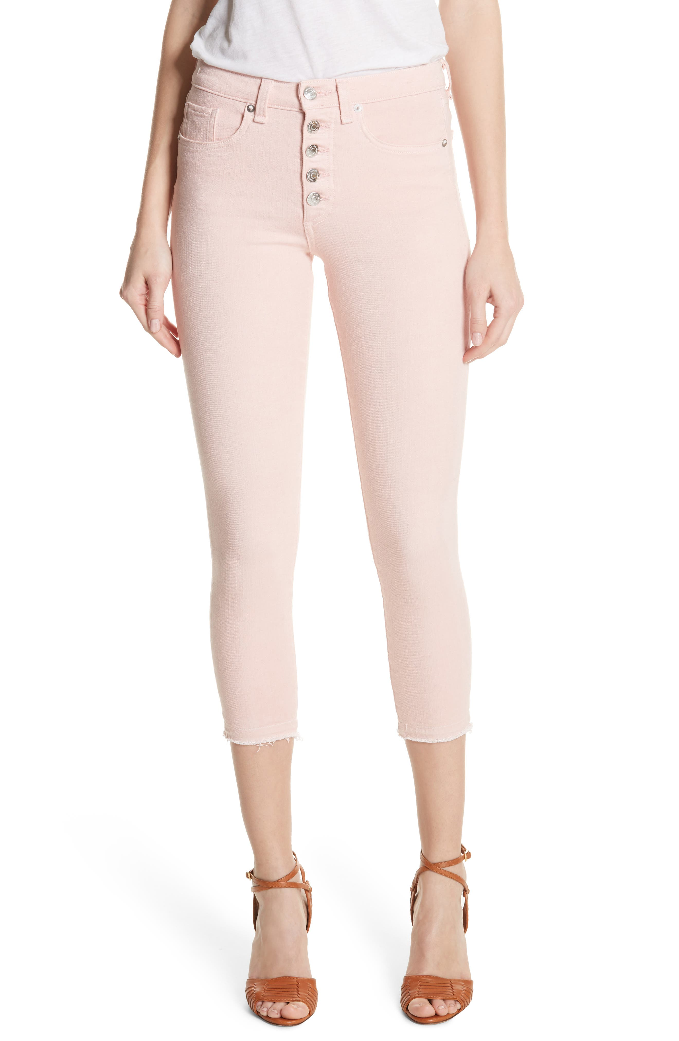 Debbie Frayed Crop Skinny Jeans,                             Main thumbnail 4, color,