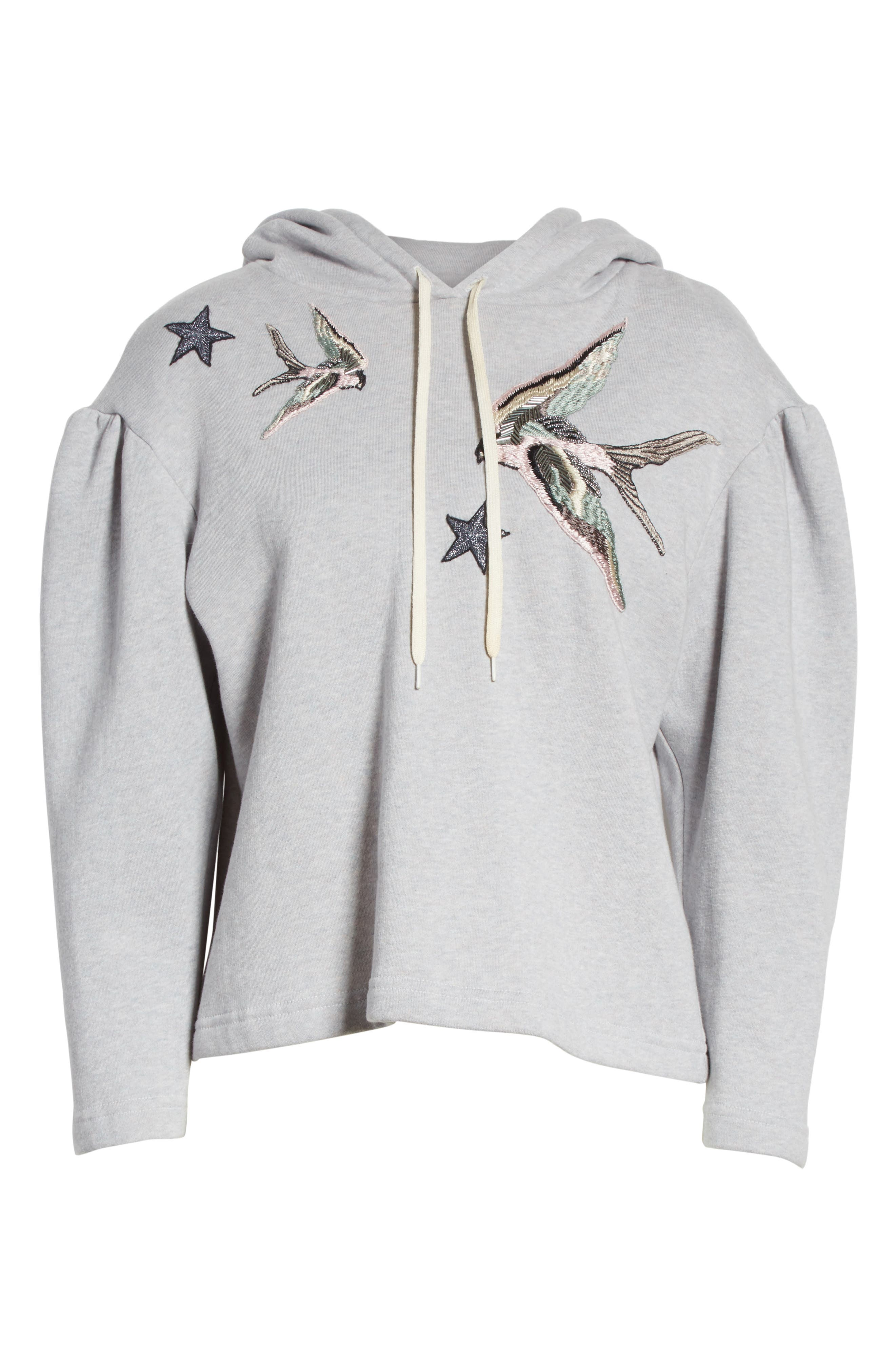 Embroidered Hoodie,                             Alternate thumbnail 6, color,                             692