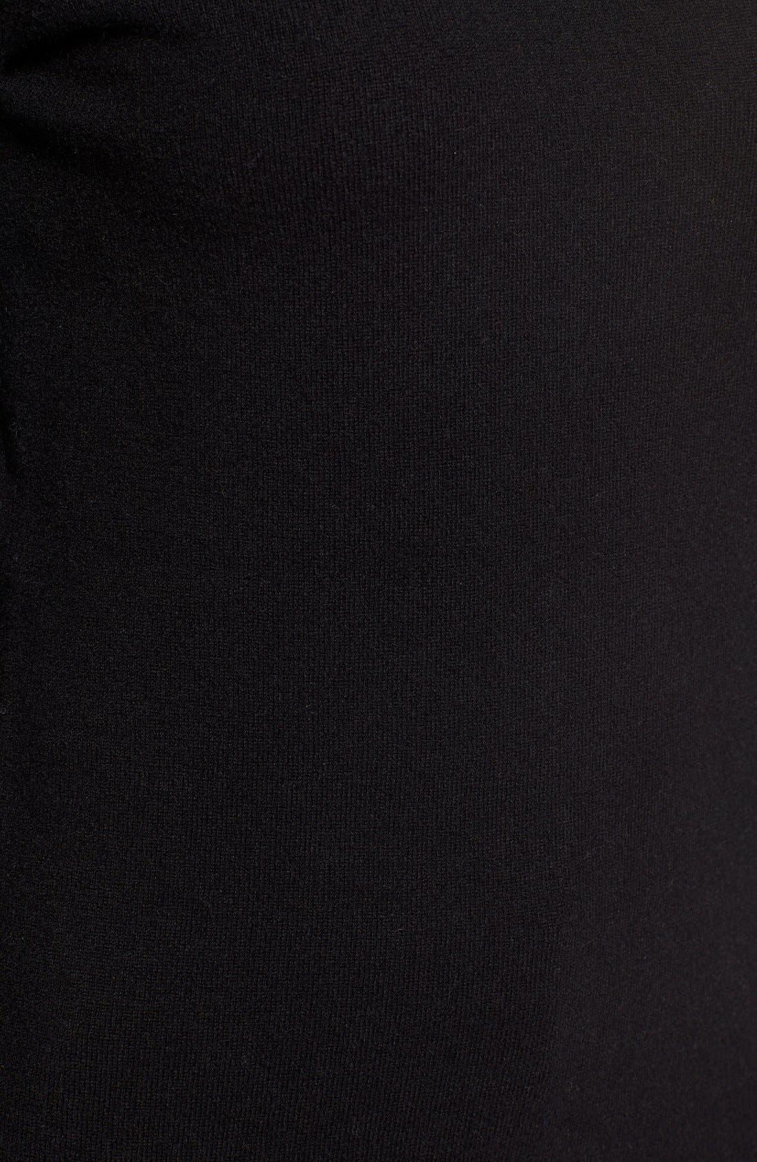 NORDSTROM COLLECTION,                             Cashmere Turtleneck Sweater,                             Alternate thumbnail 5, color,                             001