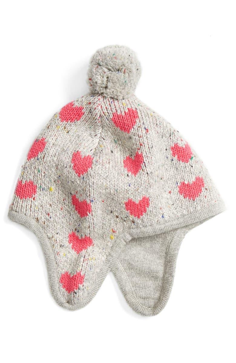 a5e3b6a01ea Tucker + Tate Heart Print Earflap Hat (Baby Girls   Toddler Girls ...