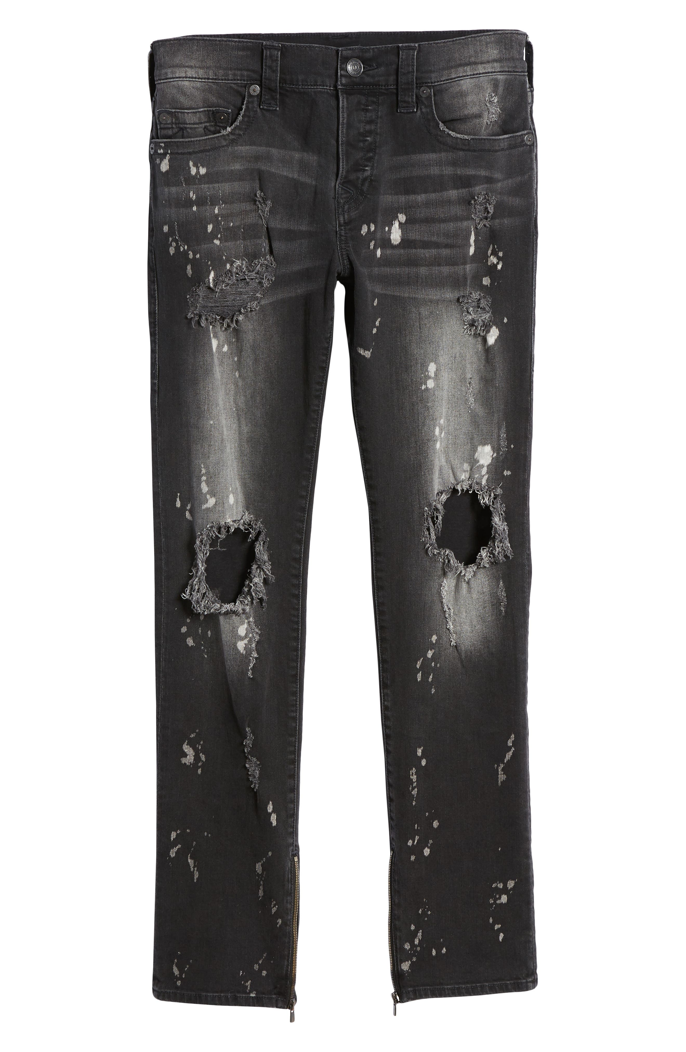 Rocco Skinny Fit Jeans,                             Alternate thumbnail 6, color,                             CYBER REBEL