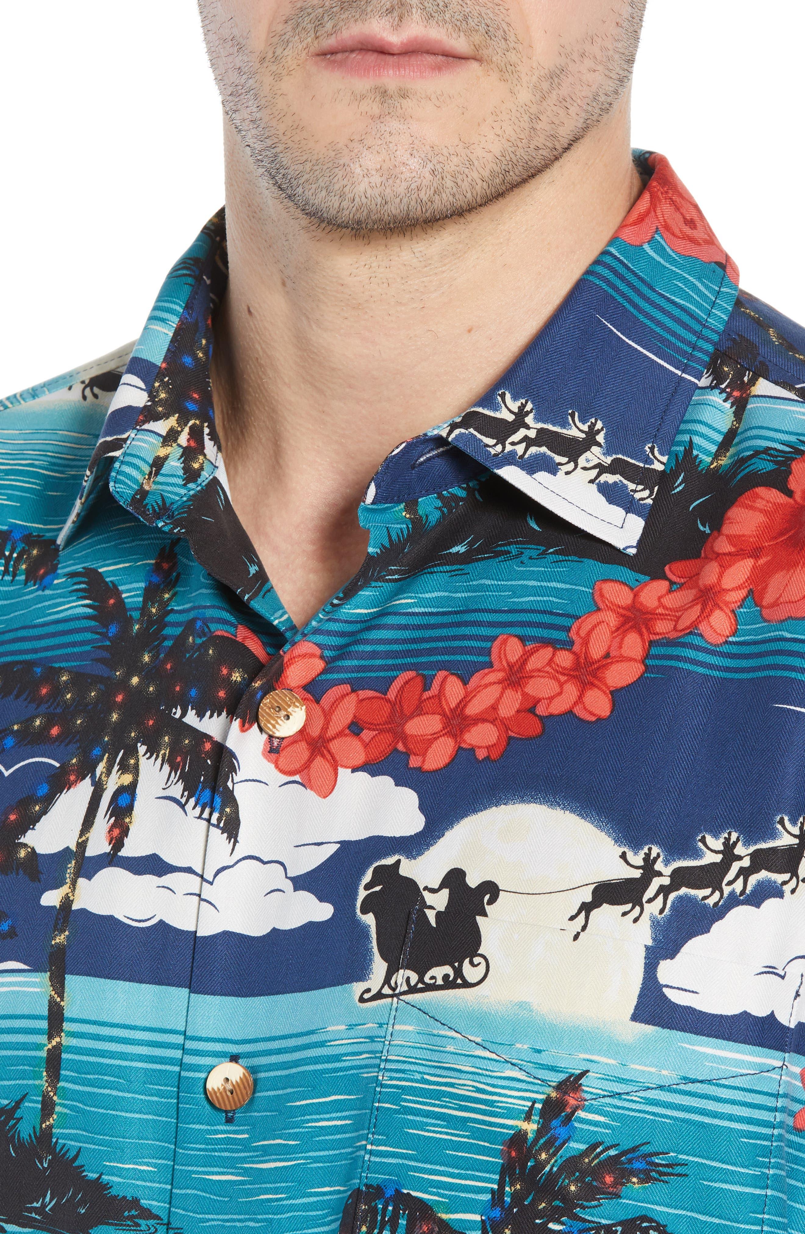 Moonlight In Paradise Silk Camp Shirt,                             Alternate thumbnail 2, color,                             OCEAN DEEP