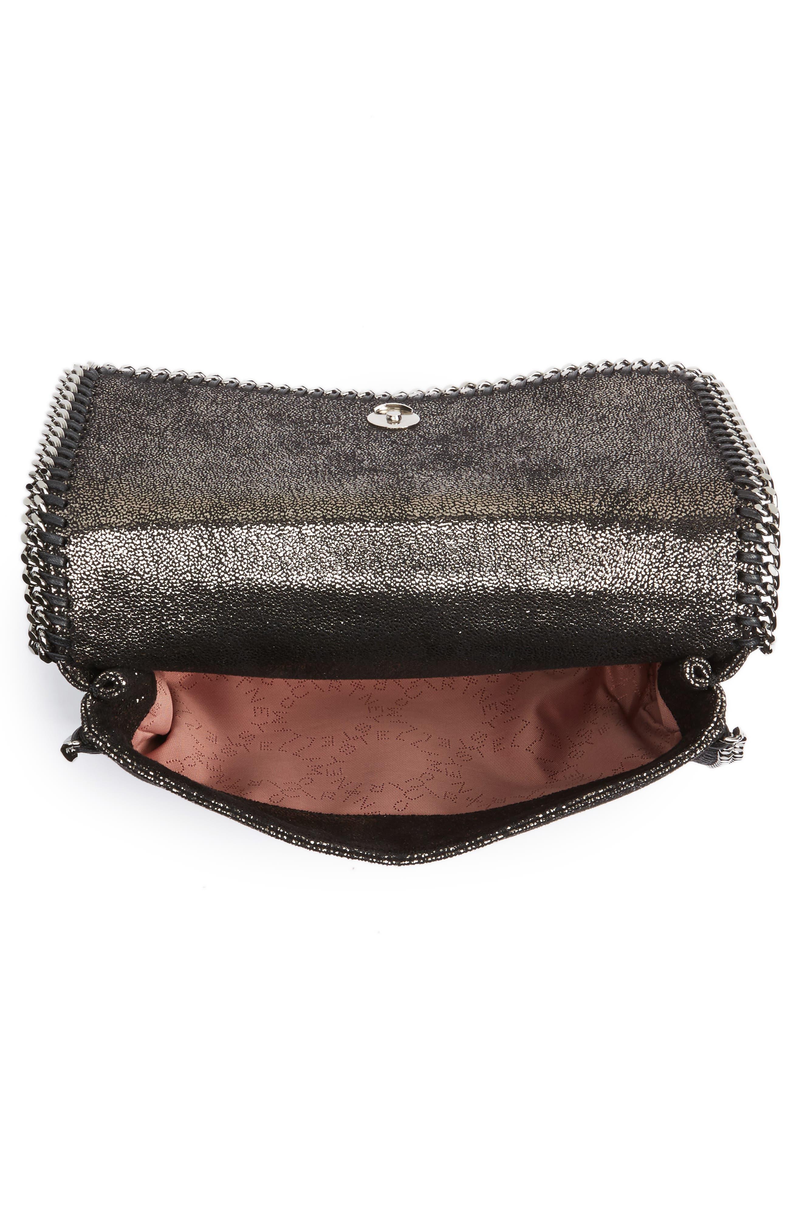 Faux Leather Flap Shoulder Bag,                             Alternate thumbnail 4, color,                             041