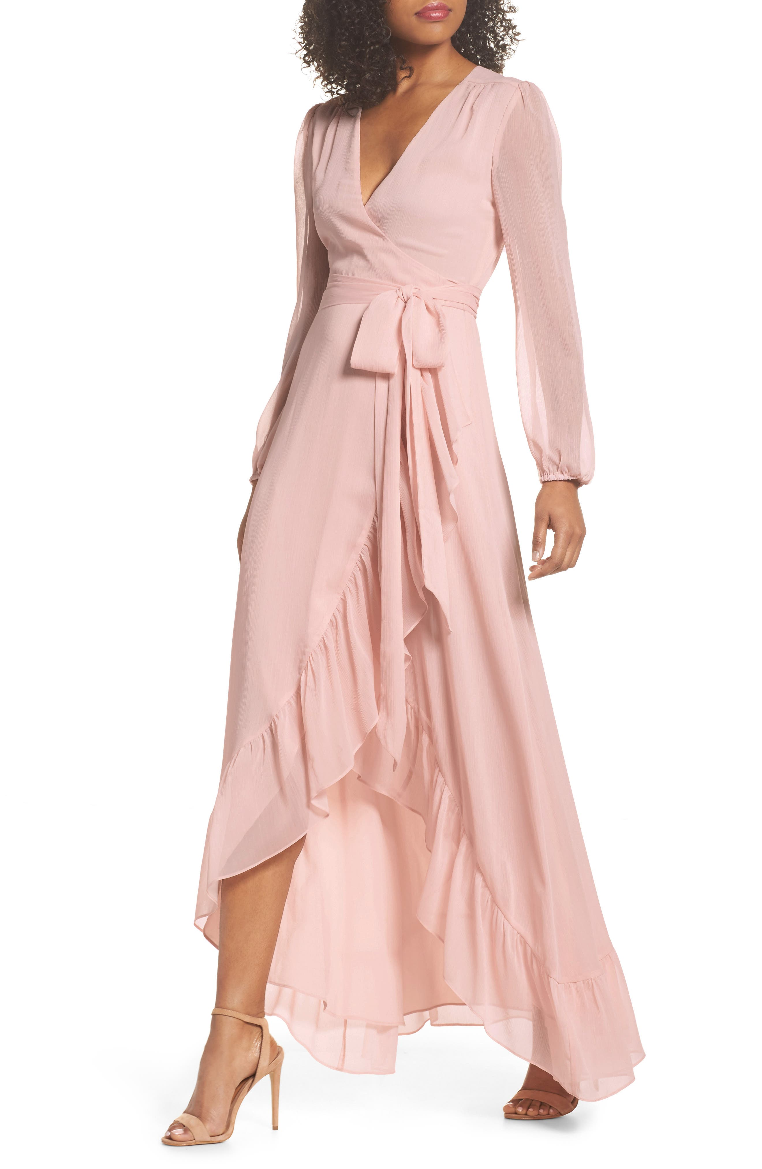 Meryl Long Sleeve Wrap Maxi Dress,                             Main thumbnail 1, color,                             650