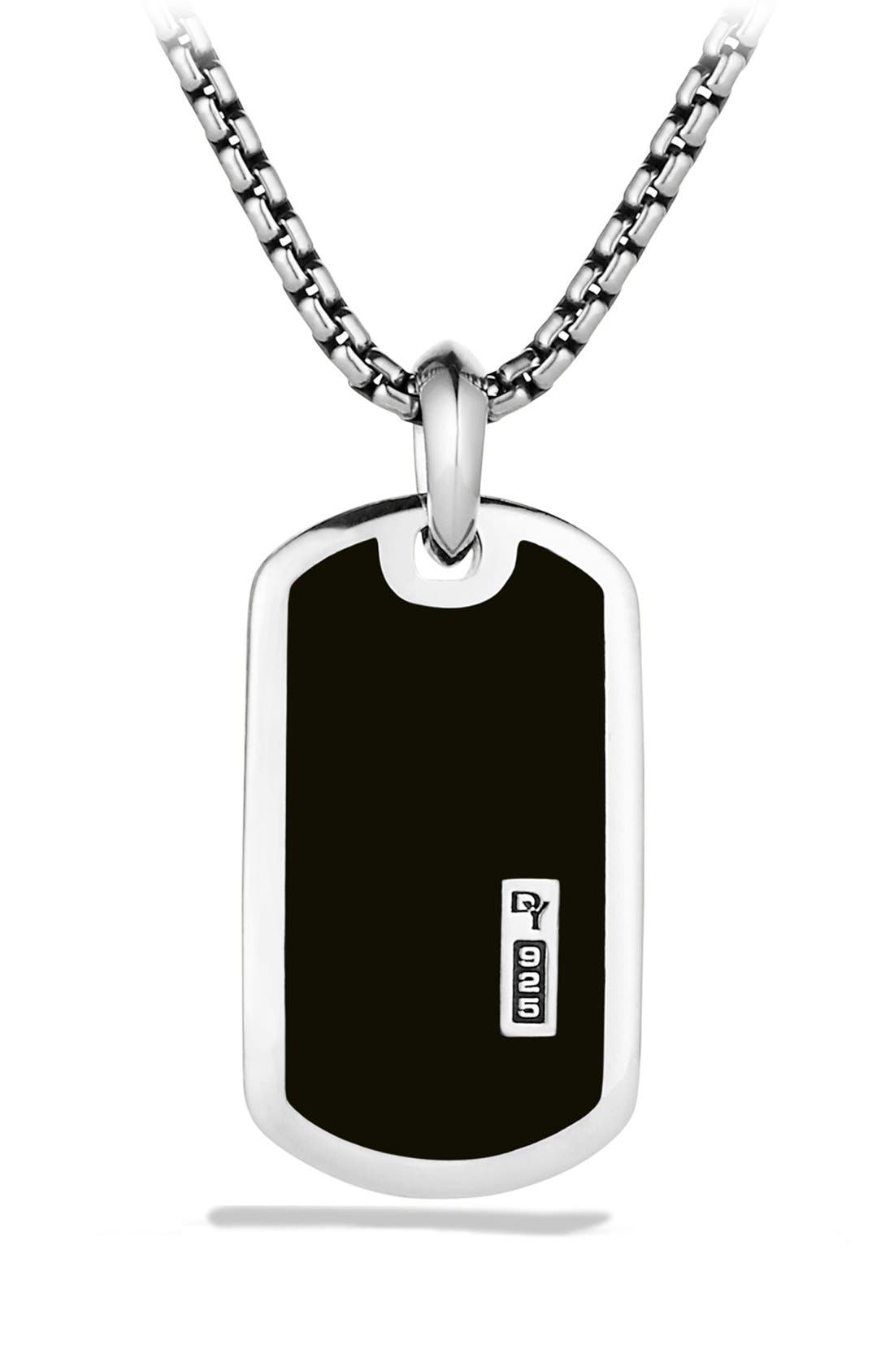 'Exotic Stone' Tag with Semiprecious Stone,                             Main thumbnail 1, color,                             BLACK ONYX