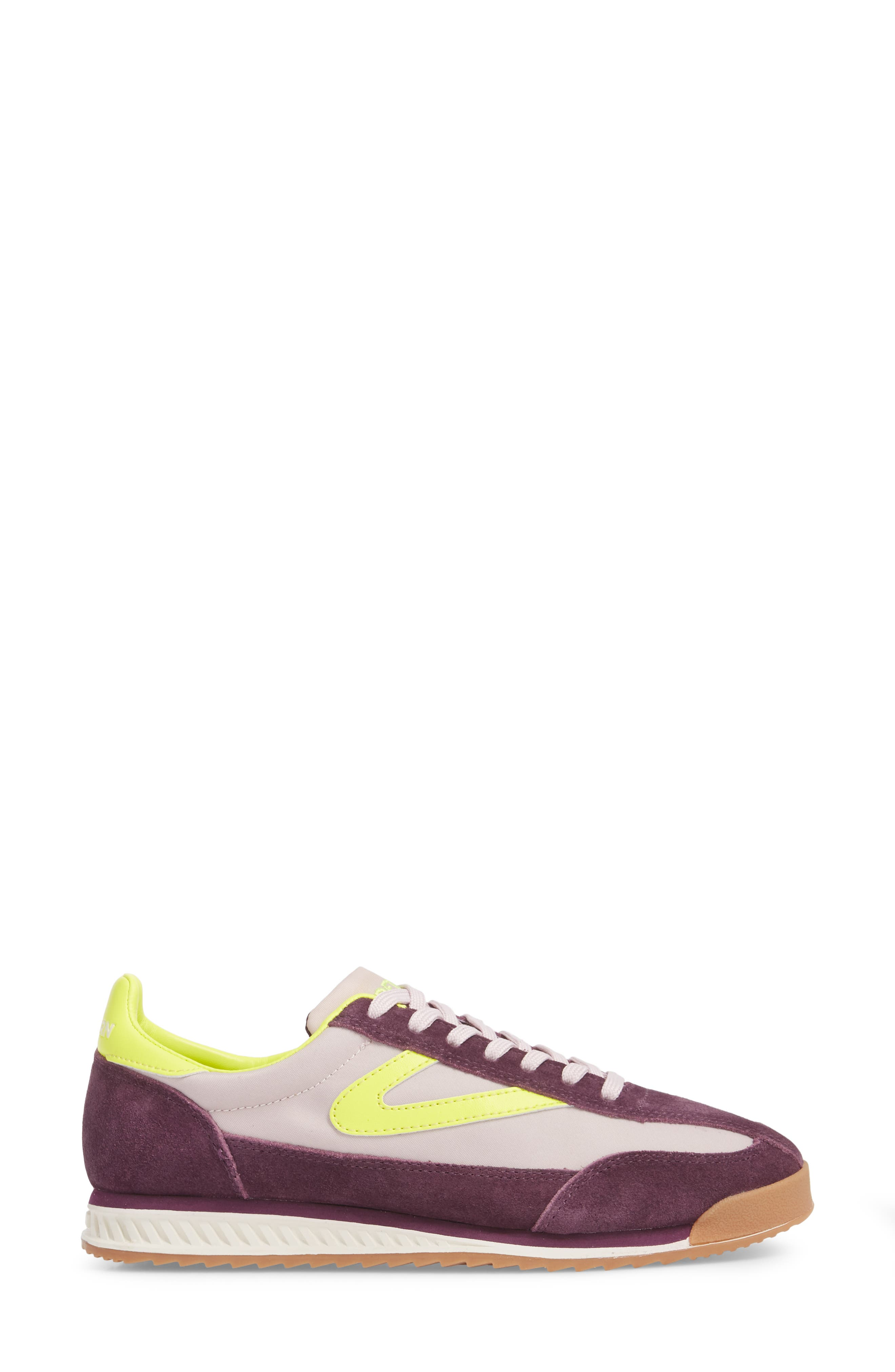 Rawlins 2 Sneaker,                             Alternate thumbnail 3, color,                             EGGPLANT/ SUMMER LILAC/ YELLOW