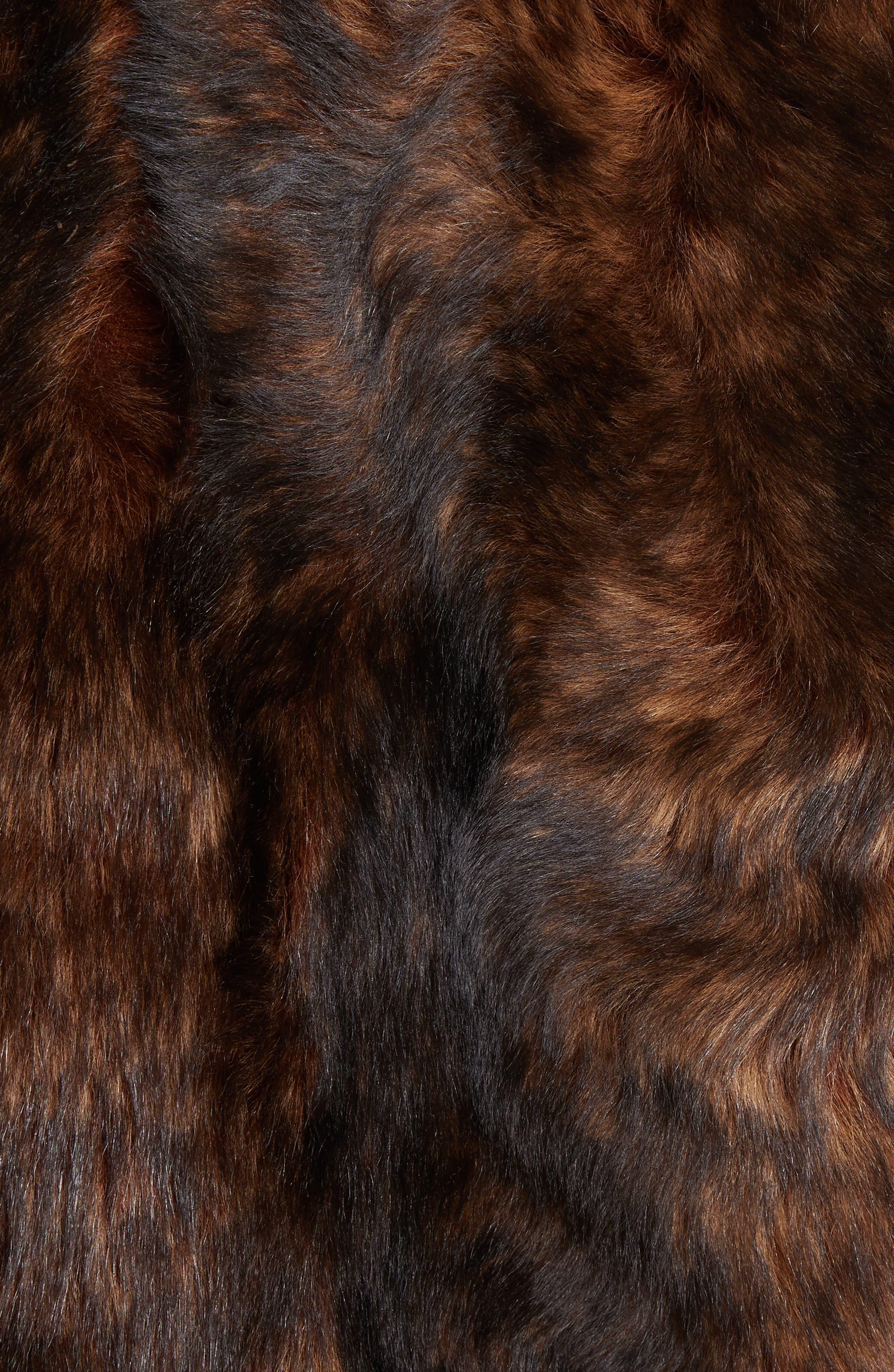 Genuine Shearling Jacket,                             Alternate thumbnail 6, color,