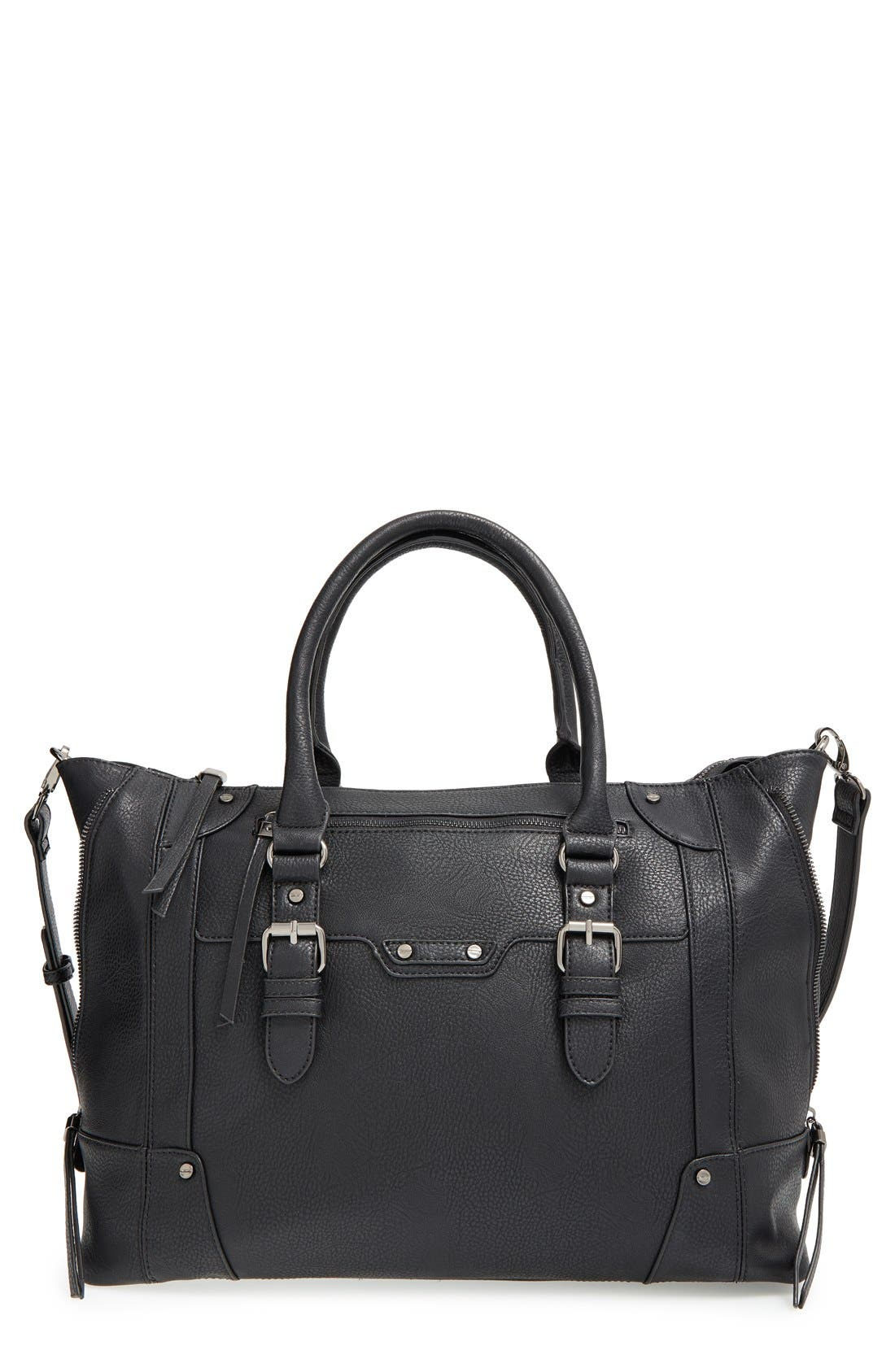 'Susan' Winged Faux Leather Tote,                             Main thumbnail 5, color,