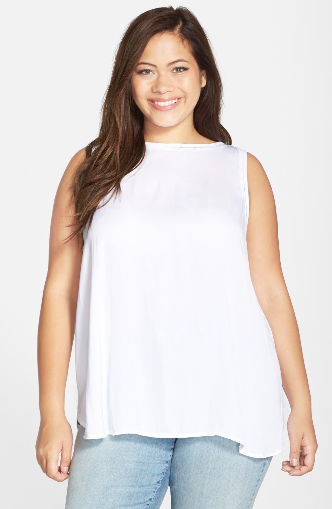 'Ciara' Print Sleeveless Top,                         Main,                         color, 100