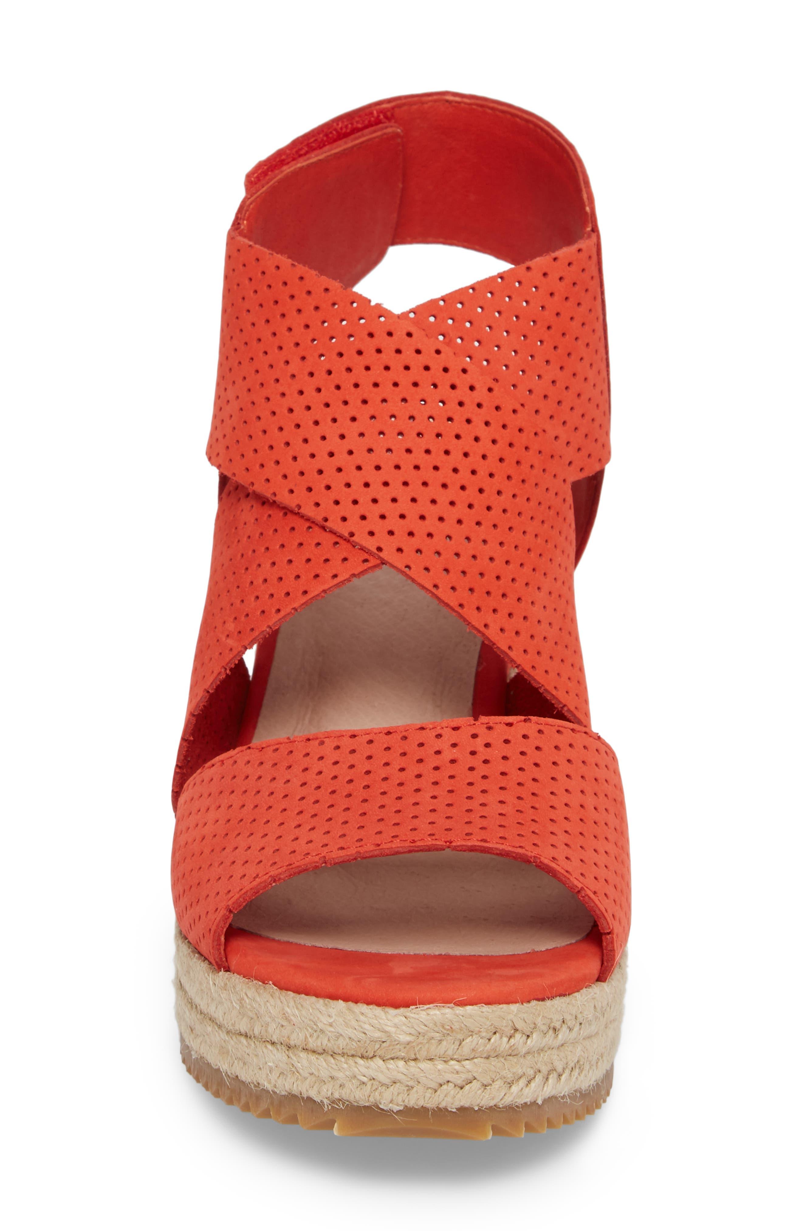'Willow' Espadrille Wedge Sandal,                             Alternate thumbnail 4, color,                             PERSIMMON NUBUCK