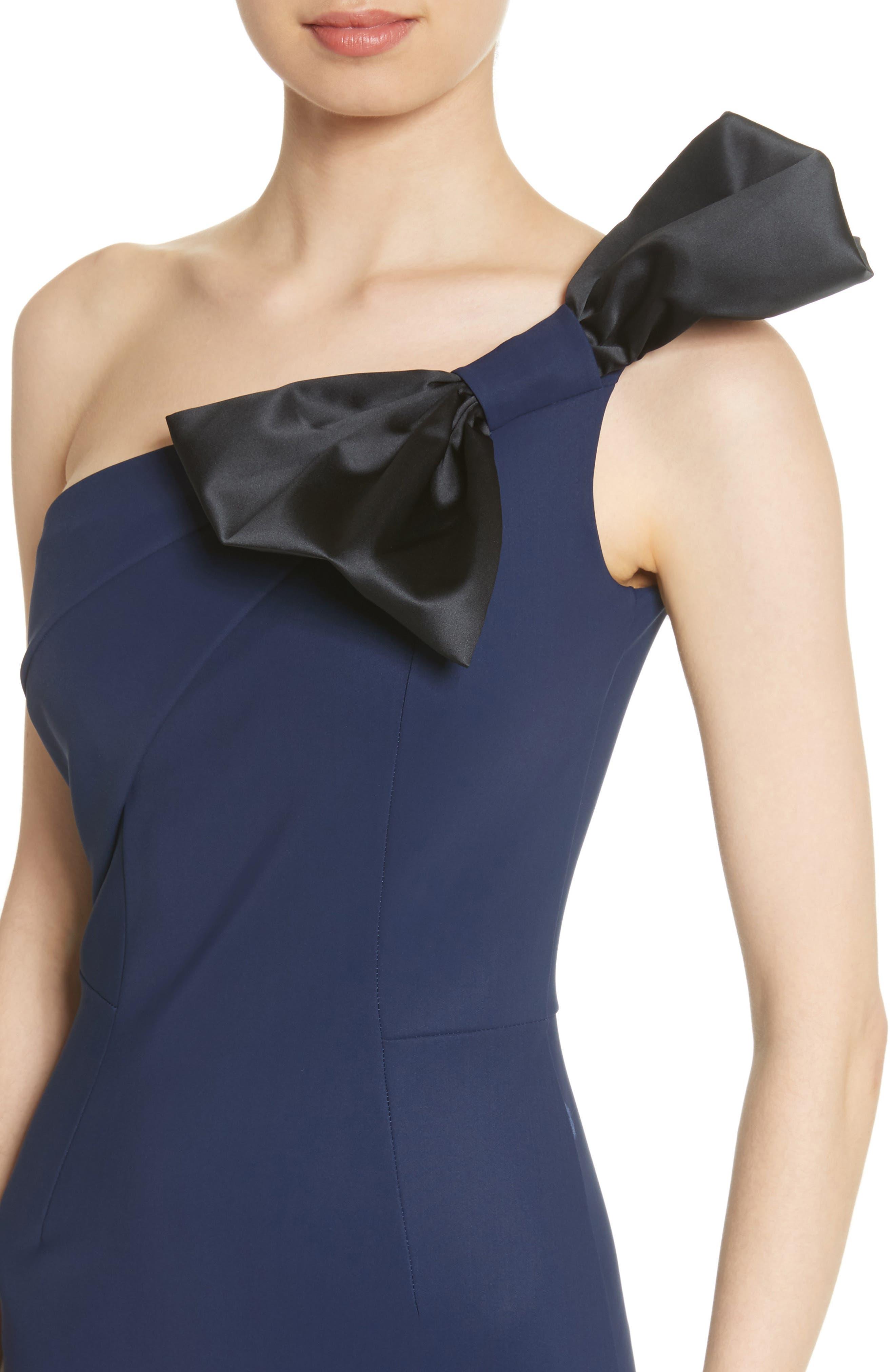 Jasmine One Shoulder Gown,                             Alternate thumbnail 4, color,