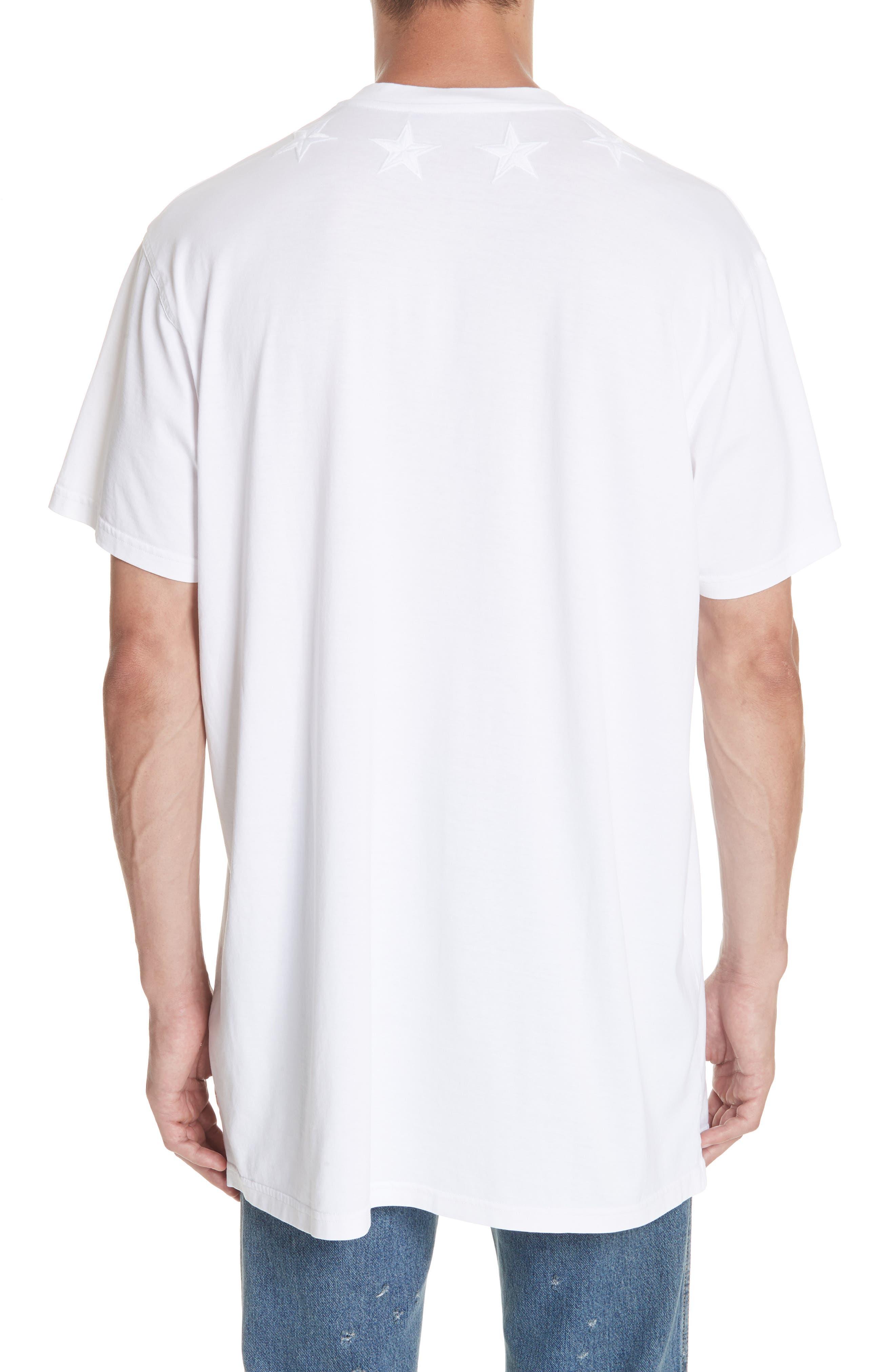 GIVENCHY,                             Star Appliqué T-Shirt,                             Alternate thumbnail 2, color,                             WHITE
