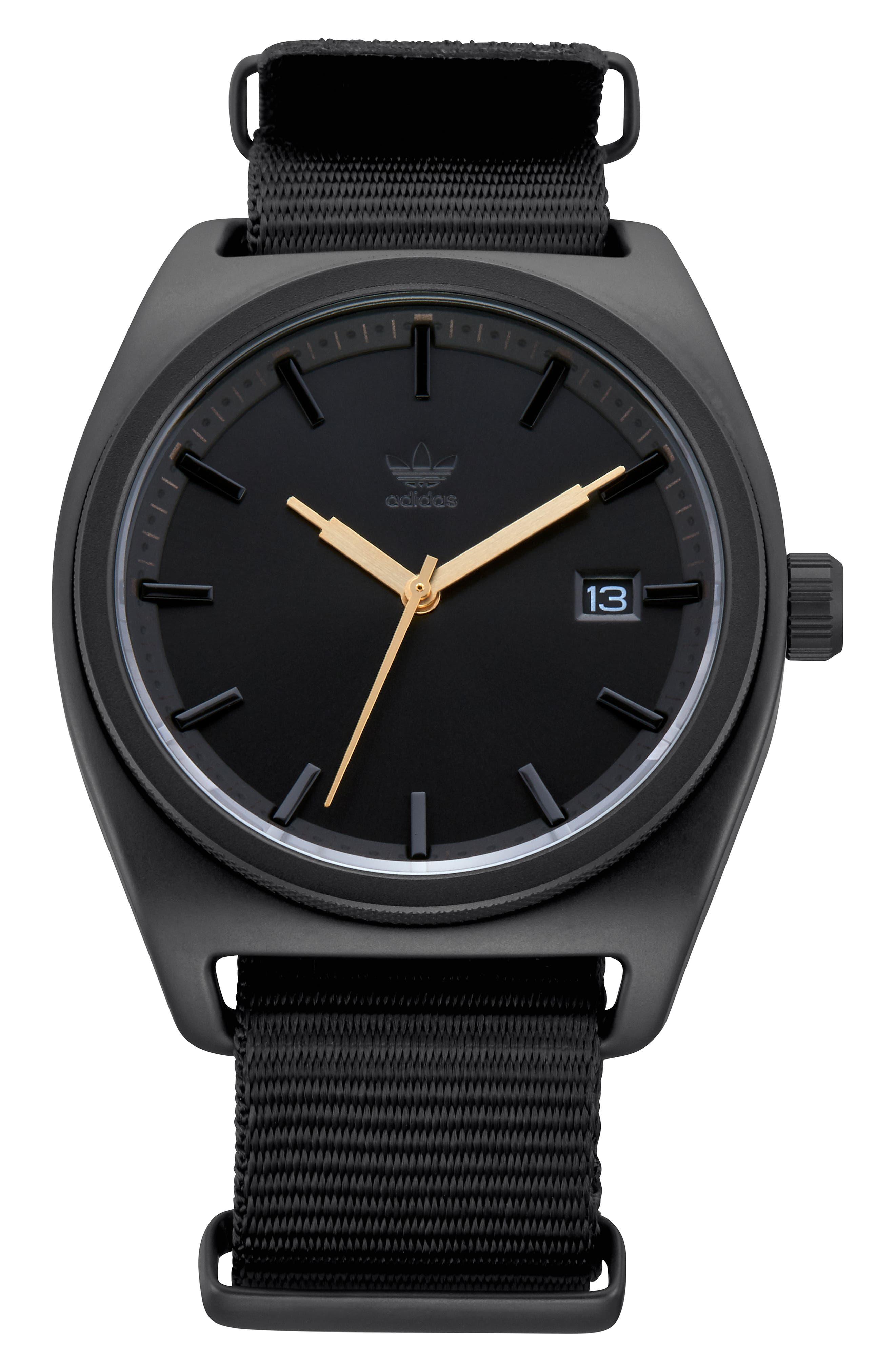 Process Interchangeable Strap Watch, 40mm,                             Main thumbnail 1, color,                             BLACK/ TAN