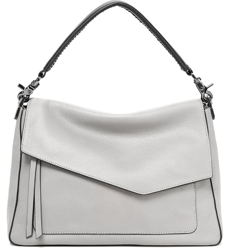 Botkier COBBLE HILL SLOUCH CALFSKIN LEATHER HOBO - GREY