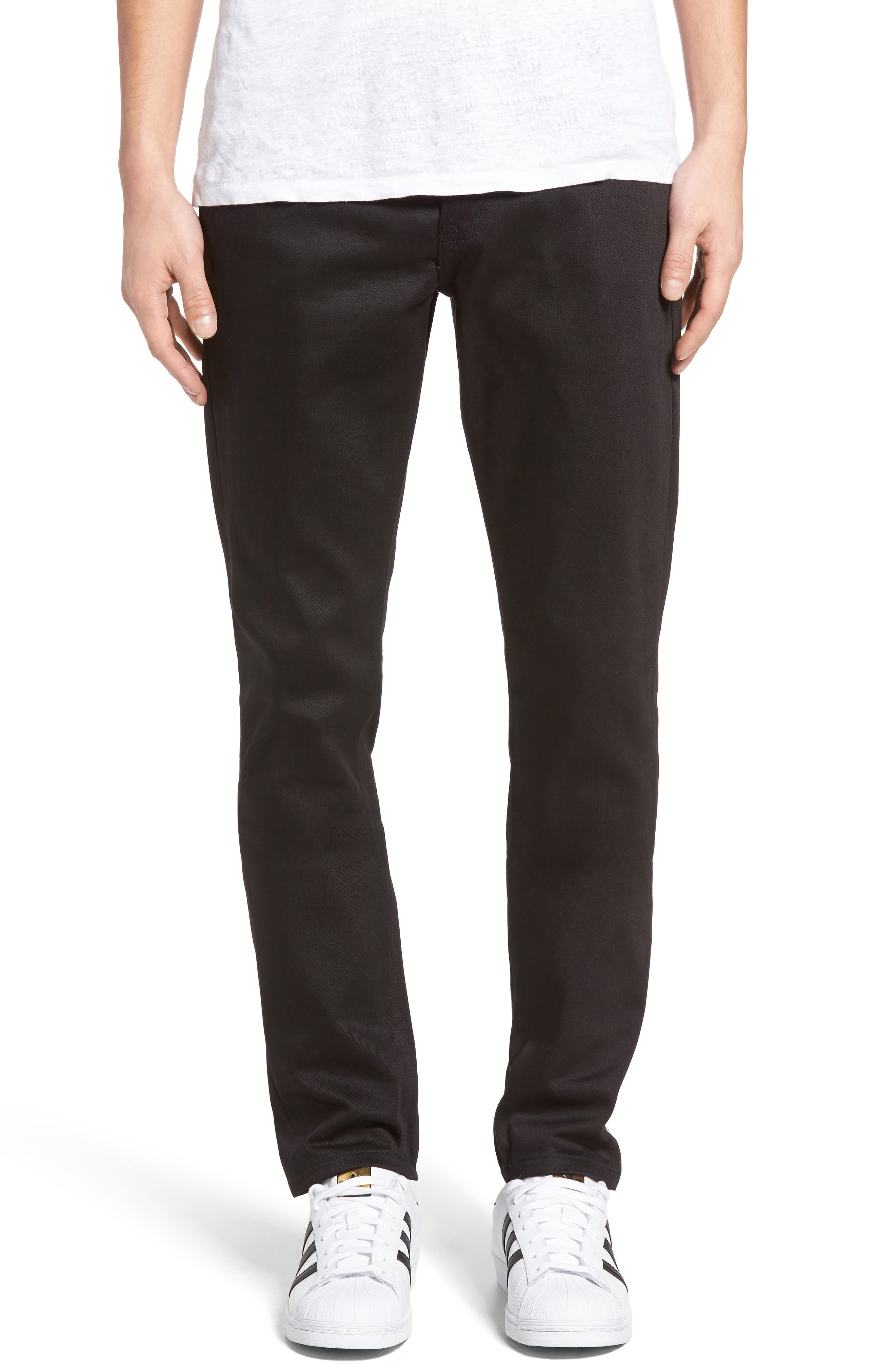 UB455 Selvedge Skinny Fit Jeans,                             Alternate thumbnail 2, color,                             001