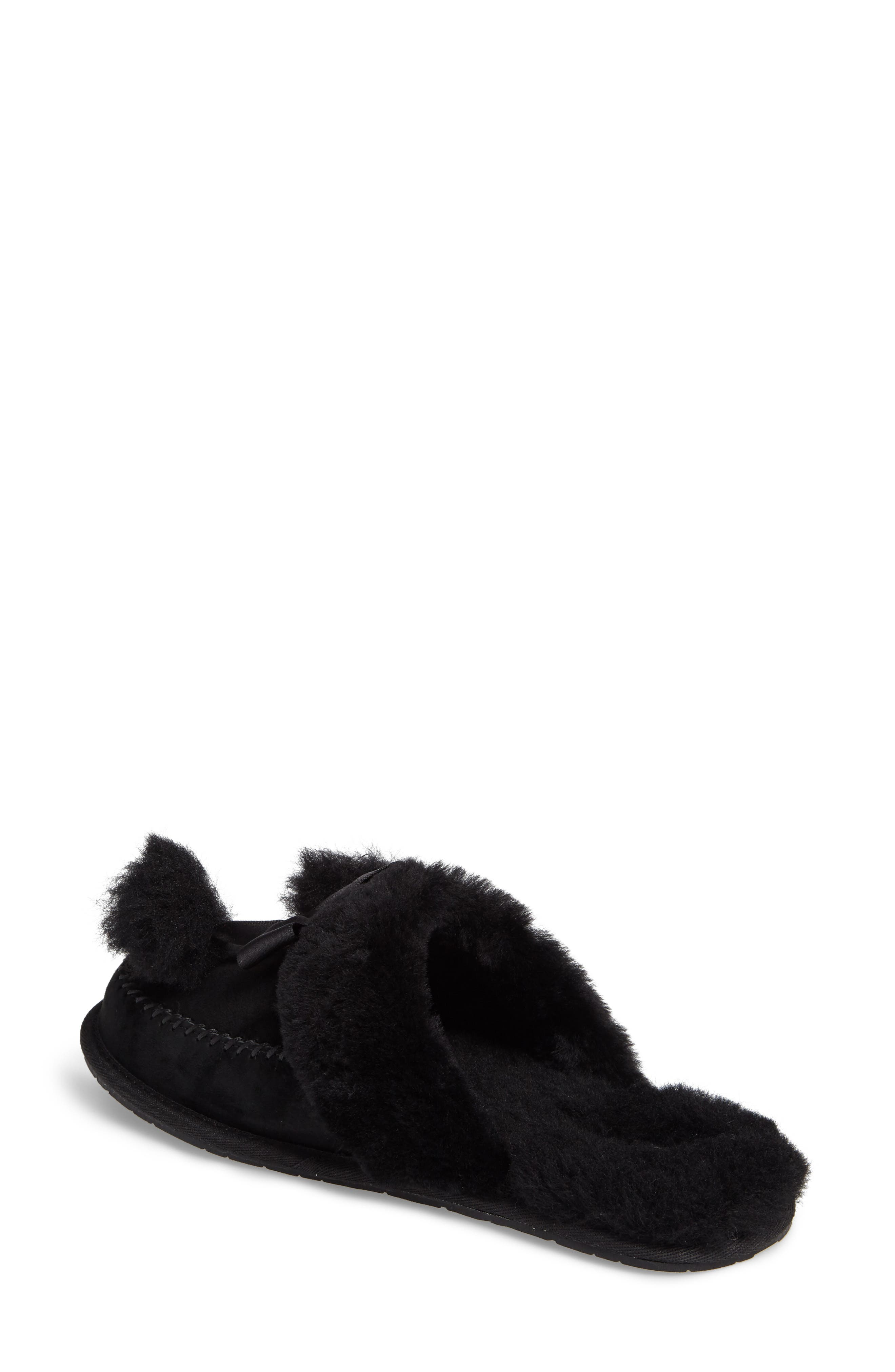 UGG<SUP>®</SUP>,                             Hafnier Genuine Shearling Slipper,                             Alternate thumbnail 2, color,                             001