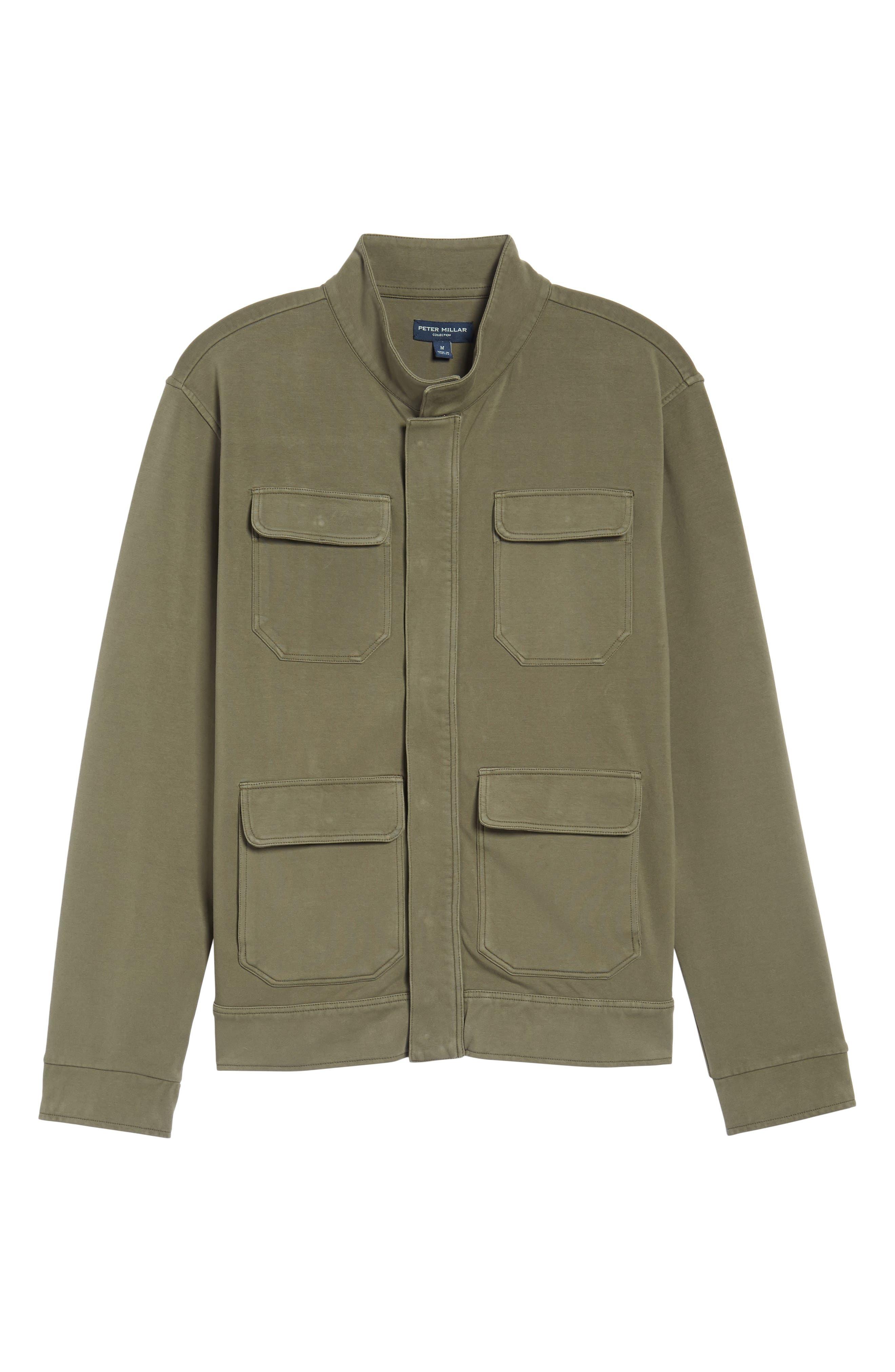 Regular Fit Safari Jersey Jacket,                             Alternate thumbnail 5, color,