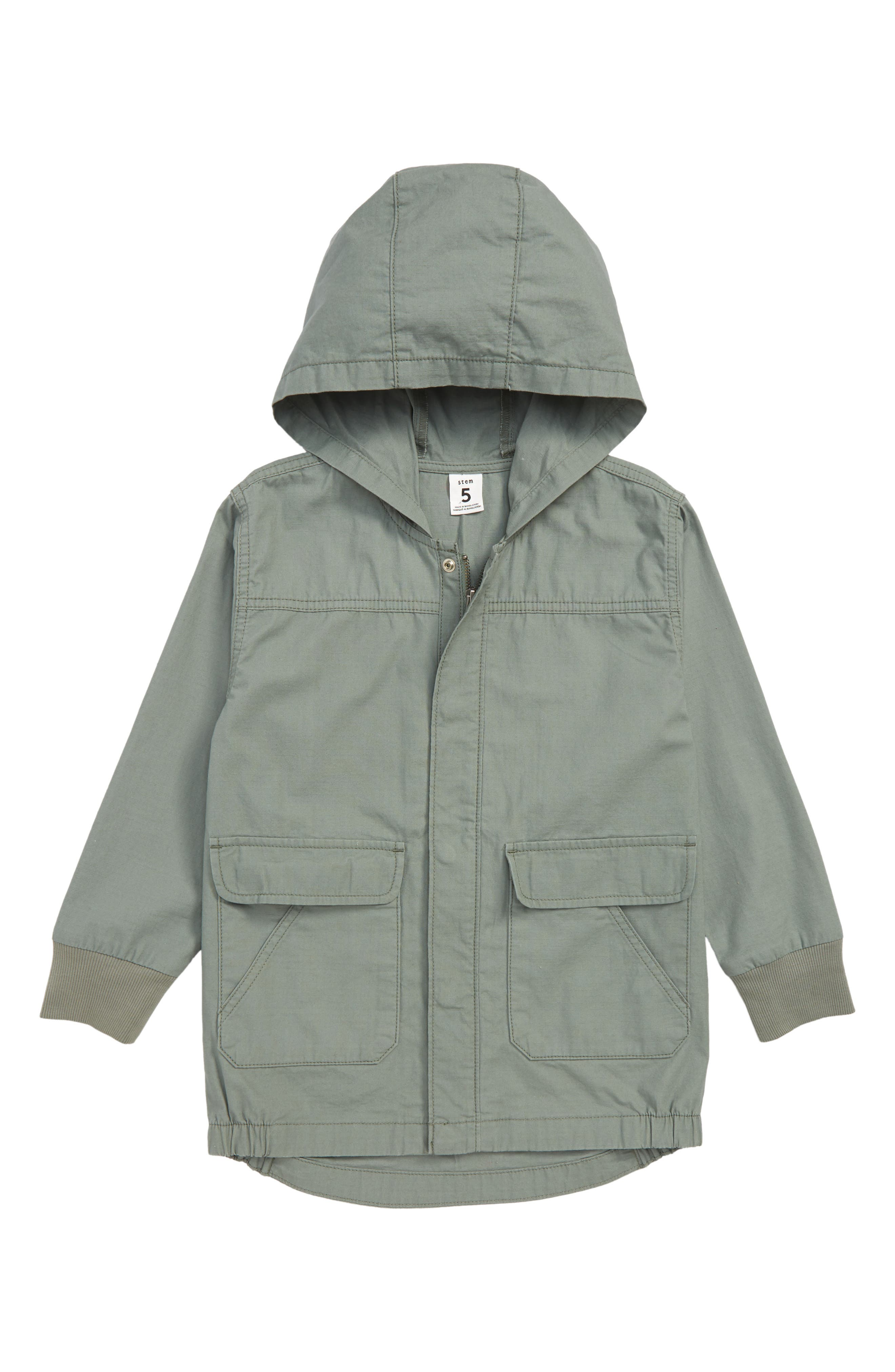 Hooded Parka,                         Main,                         color, GREEN AGAVE