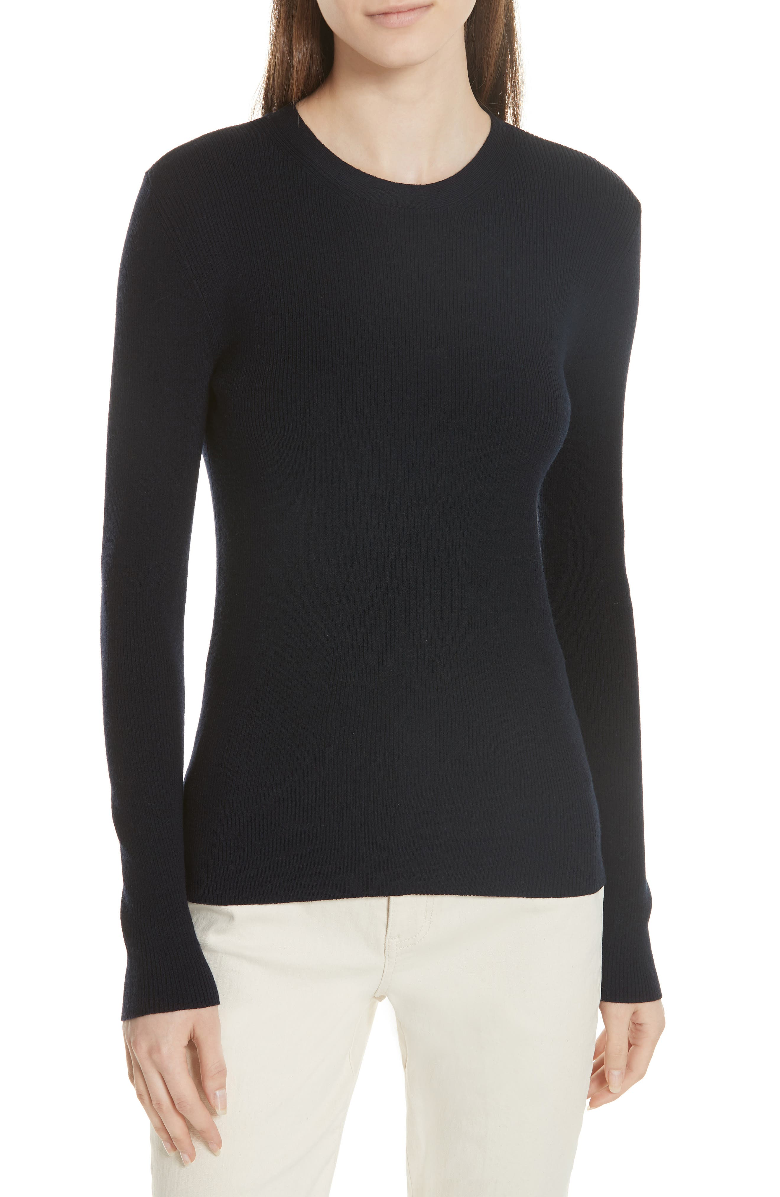 Laura Rib Knit Sweater & Silk Scarf,                             Alternate thumbnail 2, color,                             405