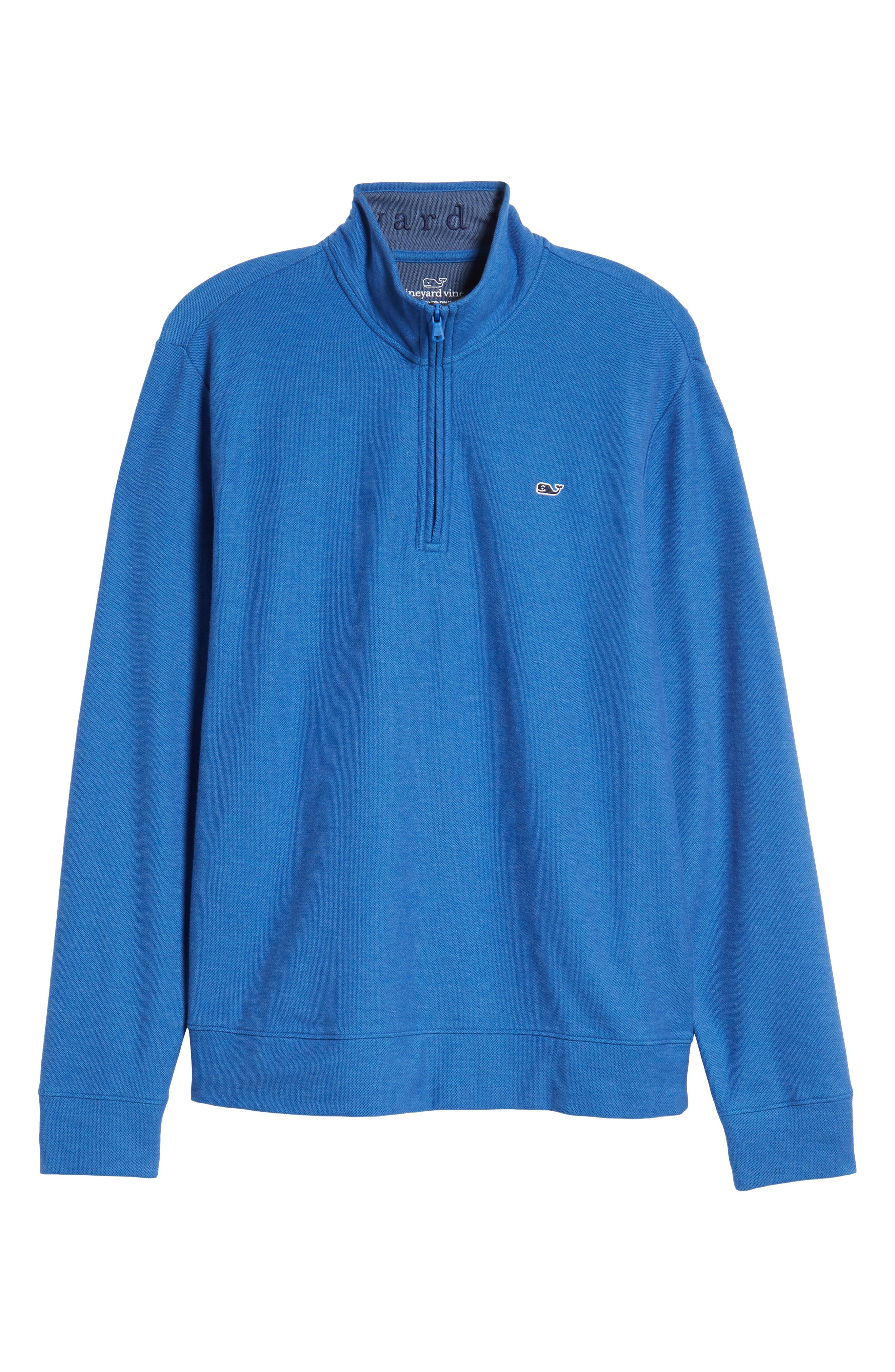 Breaker Saltwater Quarter Zip Pullover,                             Alternate thumbnail 6, color,                             HULL BLUE