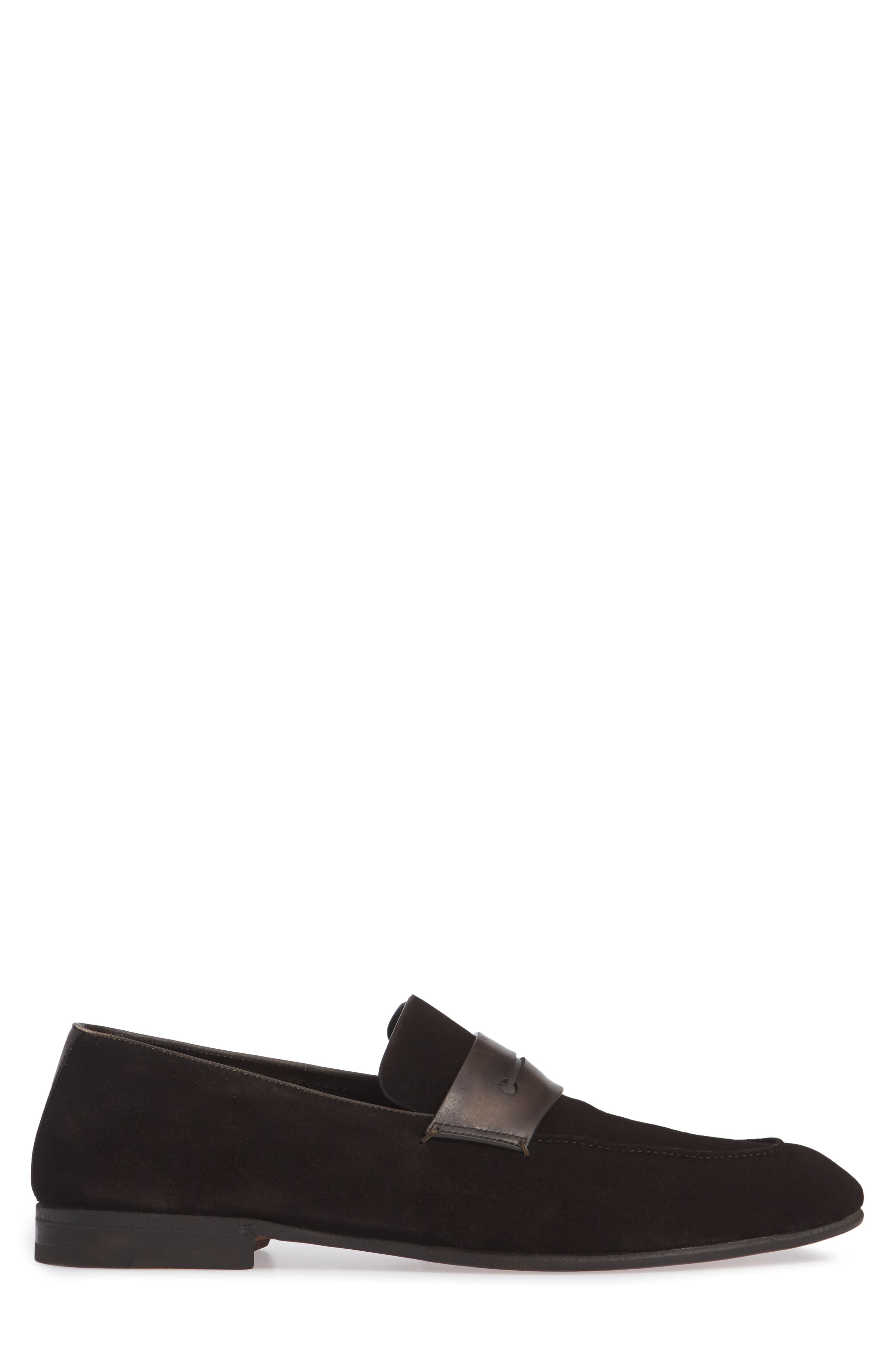 Penny Loafer,                             Alternate thumbnail 3, color,                             BROWN