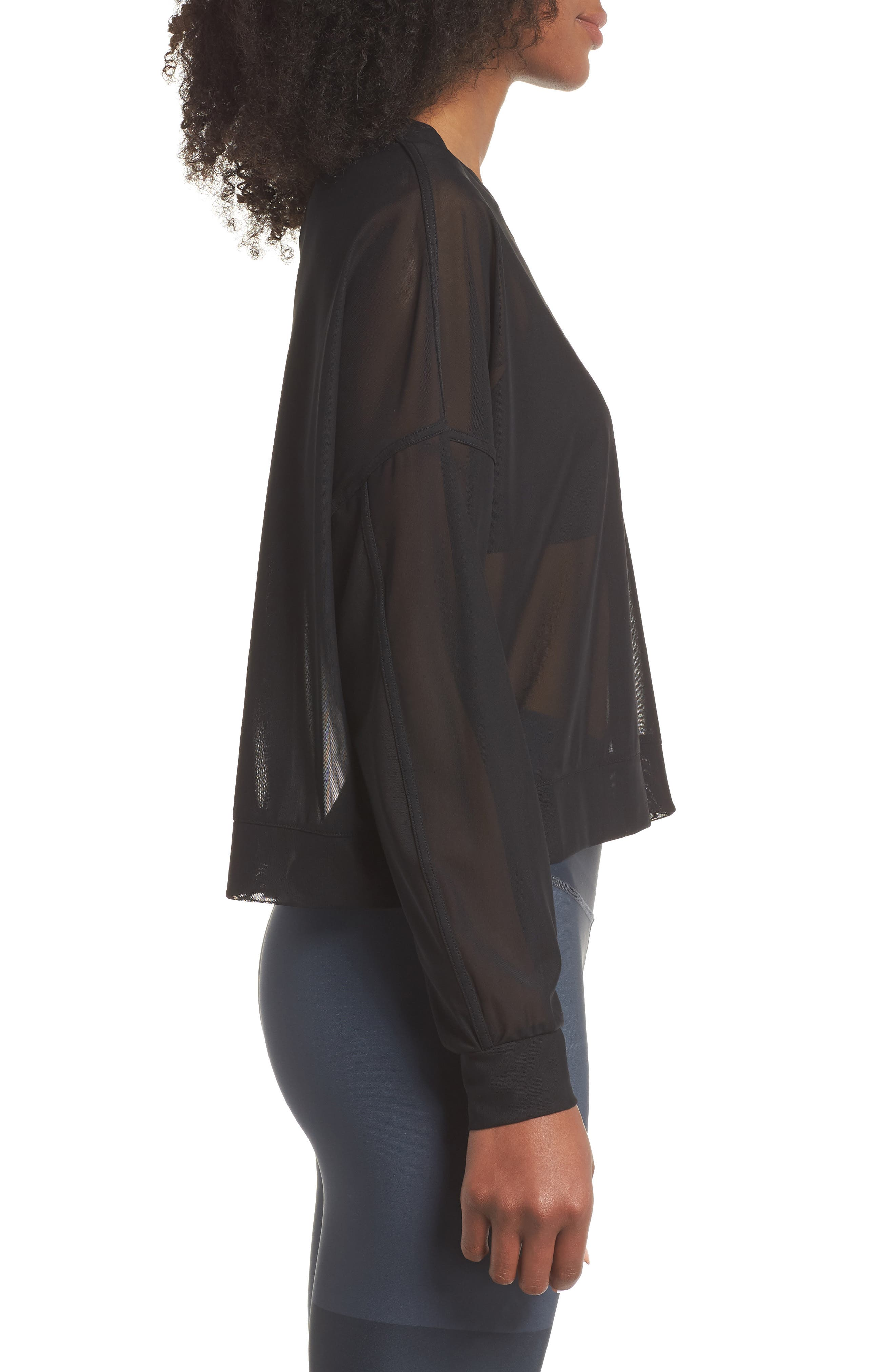 Ambiance Sheer Pullover,                             Alternate thumbnail 3, color,                             010