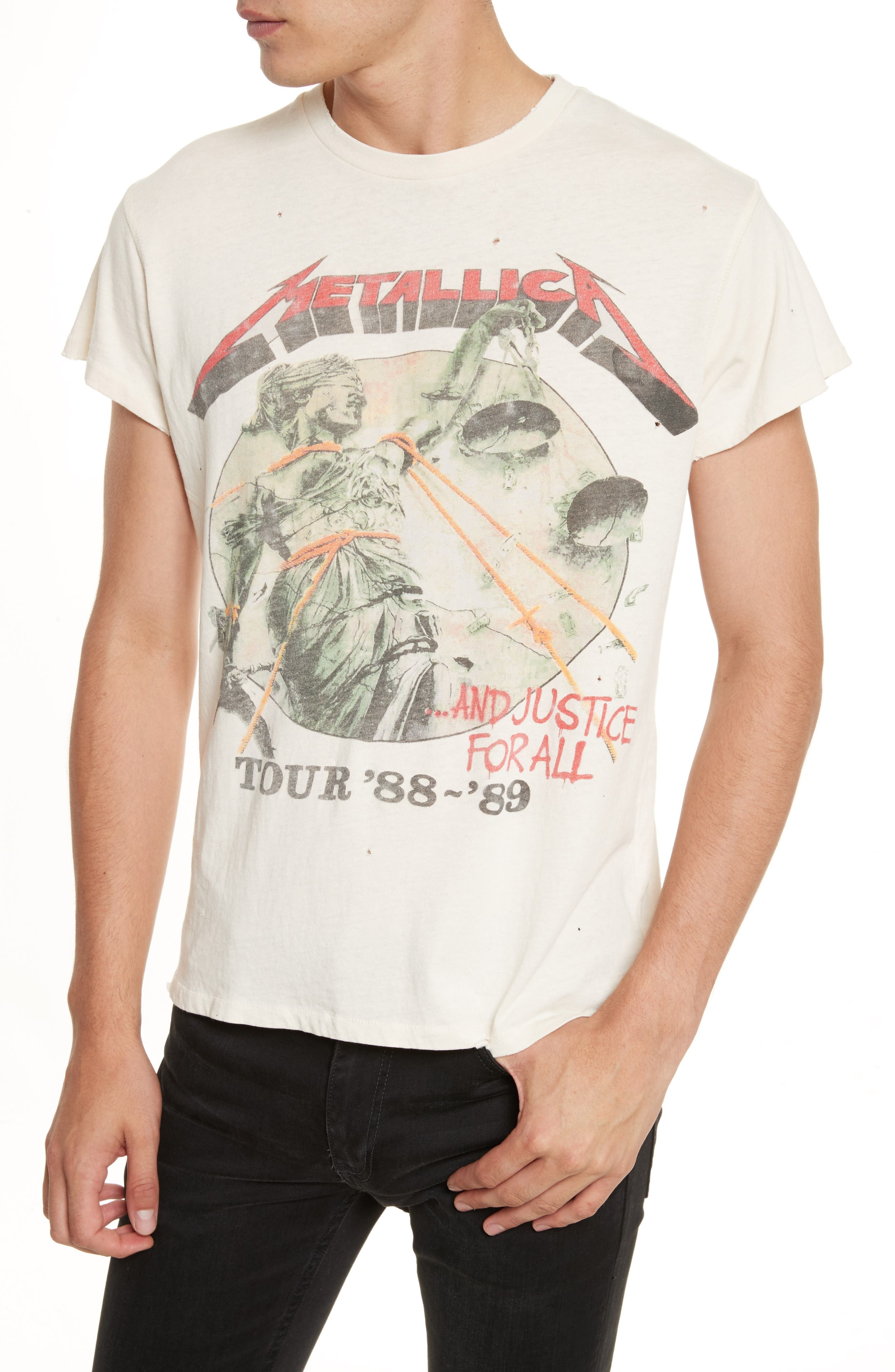 Metallica - And Justice for All Graphic T-Shirt,                             Alternate thumbnail 4, color,                             100