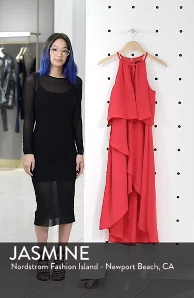 Crepe Popover High/Low Dress, sales video thumbnail
